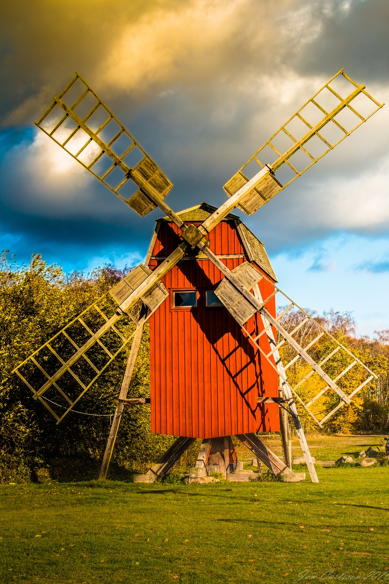 Old Wind Mill Dreaming About Stormy Days in the Past by carljan w carlsson