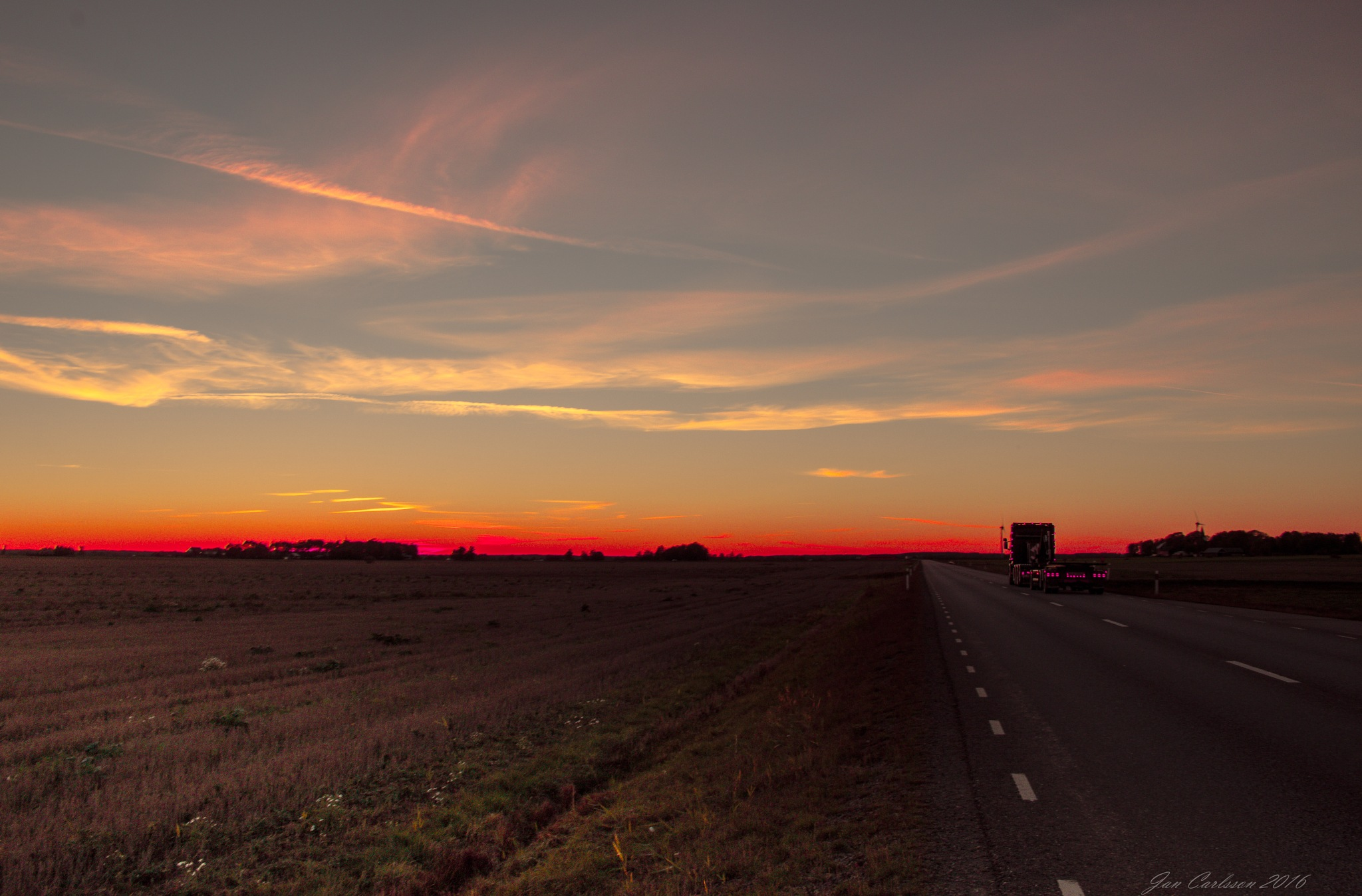 October Sunset in the Swedish West by carljan w carlsson