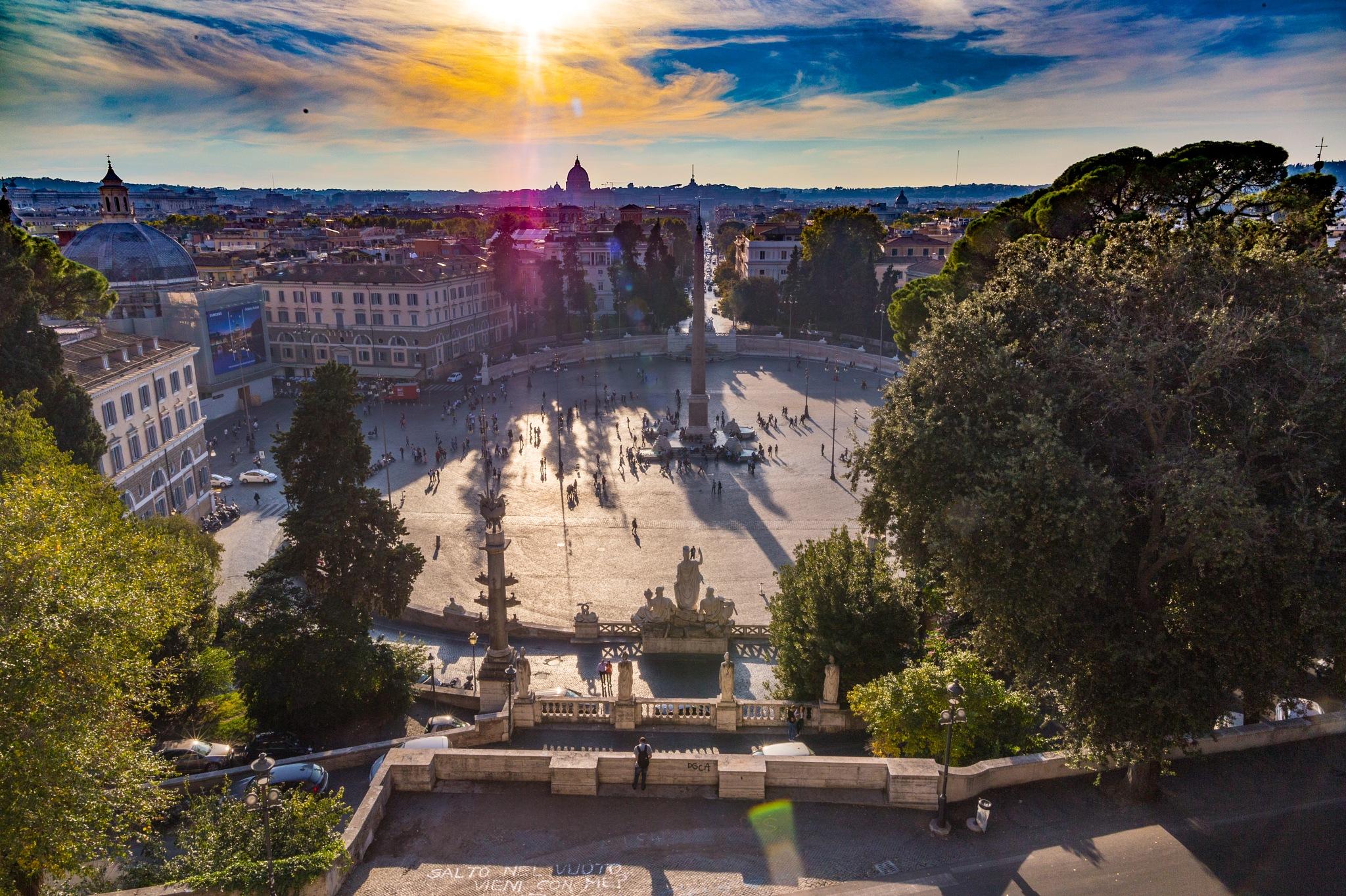 A View from Villa Borghese, Rome by carljan w carlsson