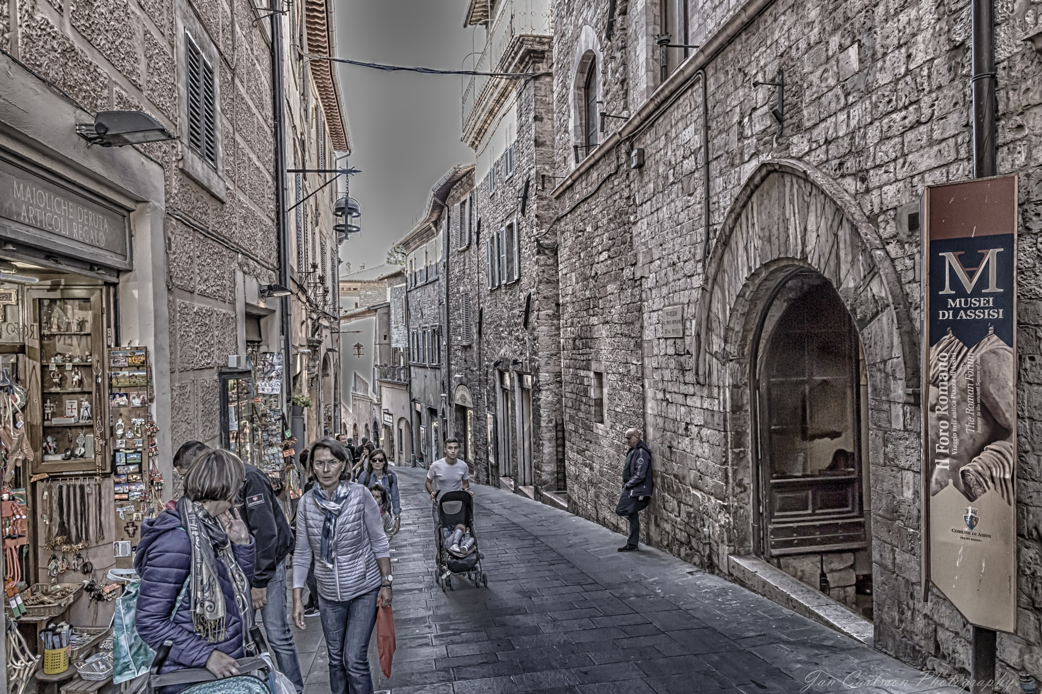 The Streets of Assisi by carljan w carlsson