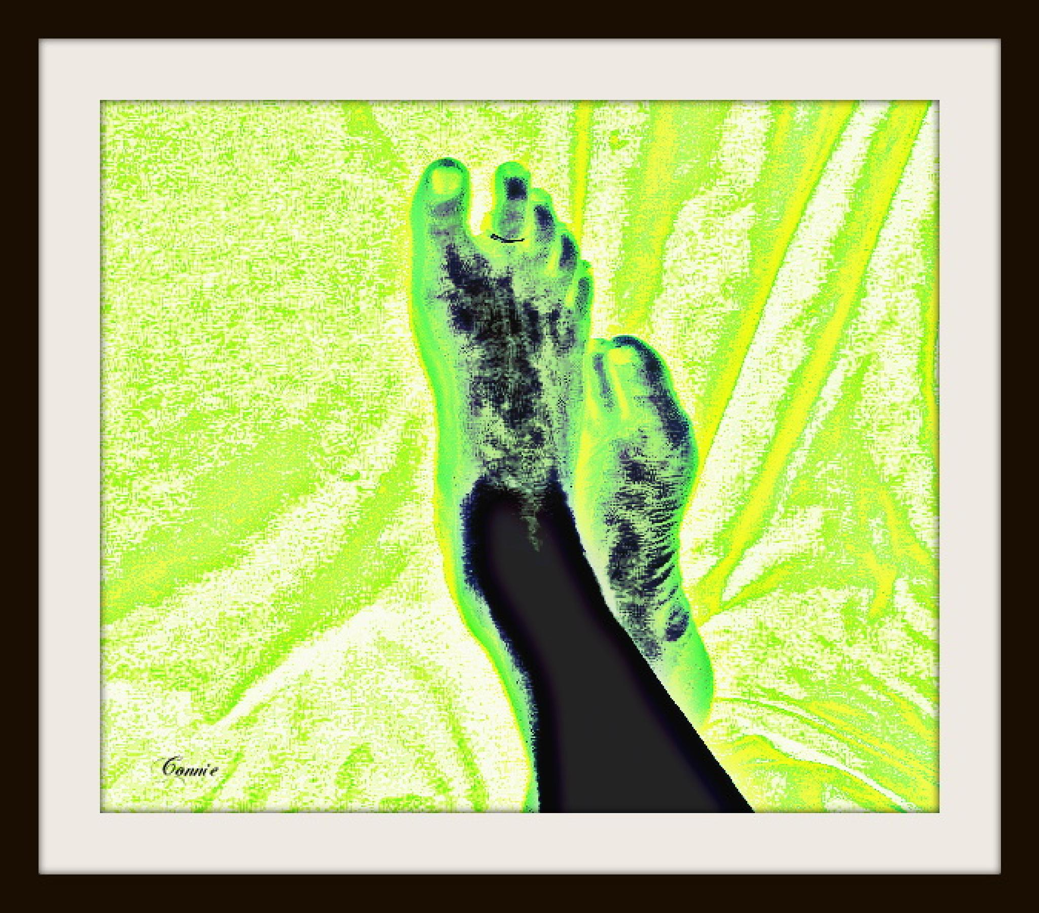 Green toes by connie