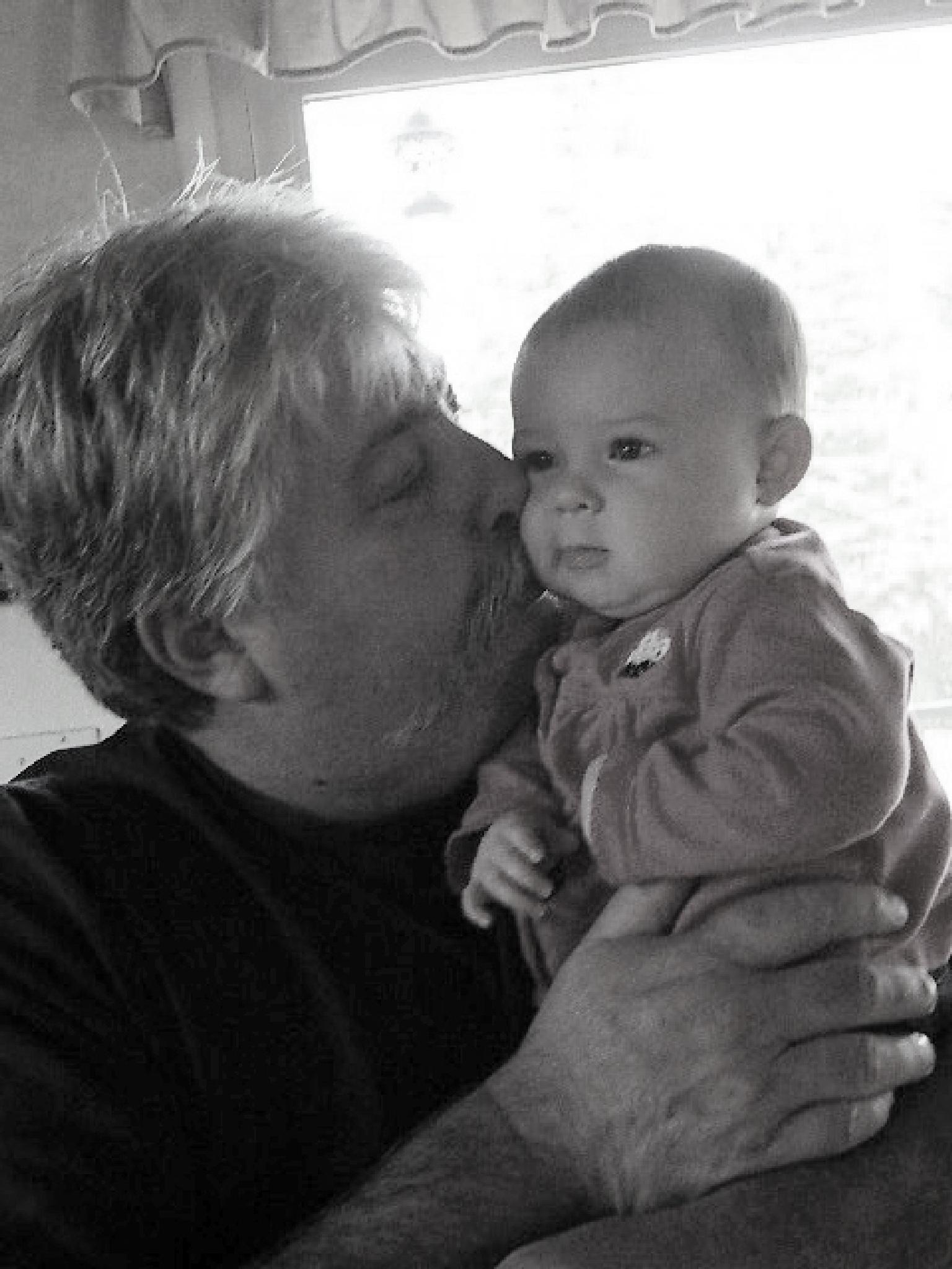 grandpa kisses by connie