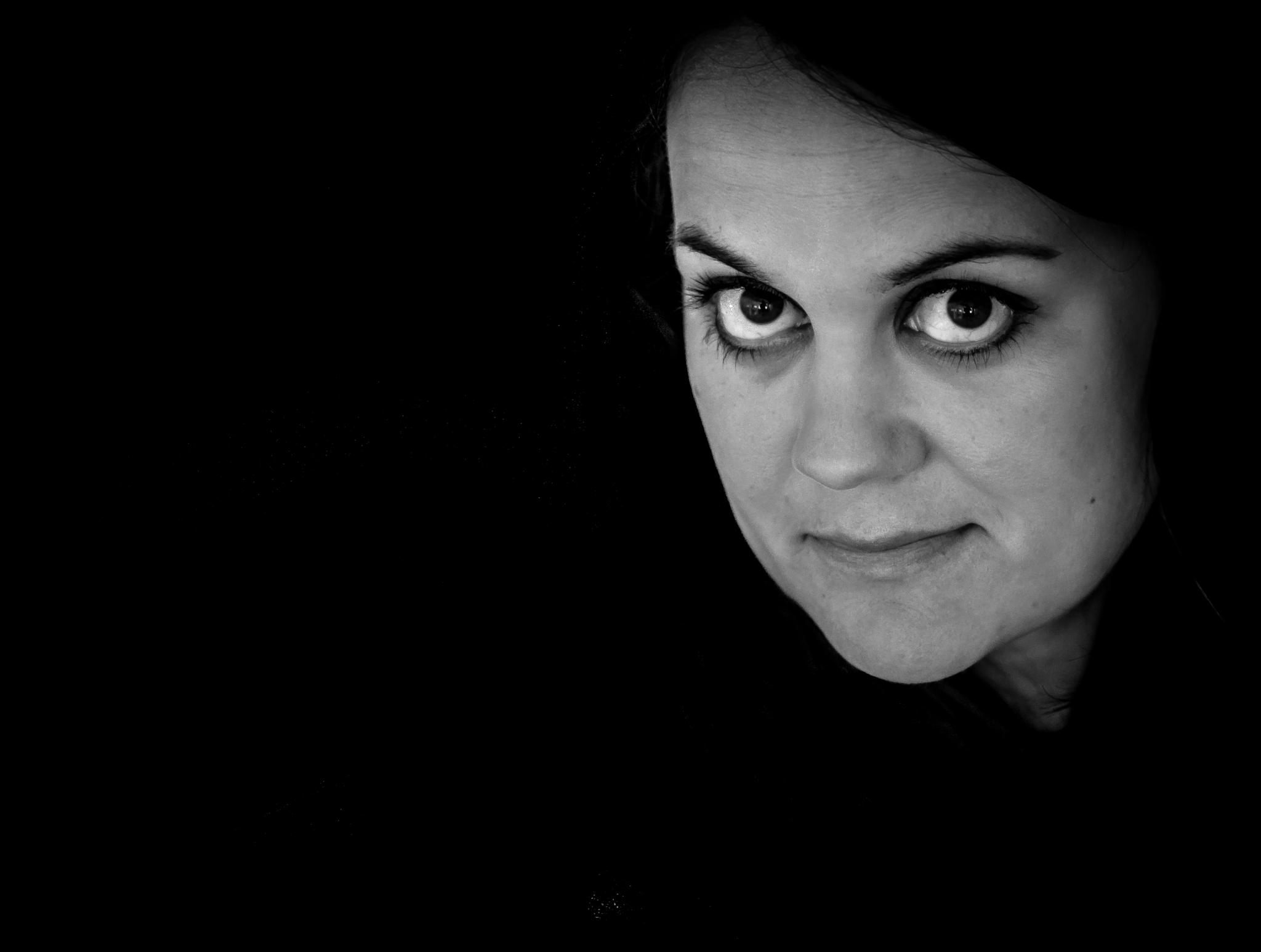 Photo in Portrait #woman #eyes #black #dark #halmstad