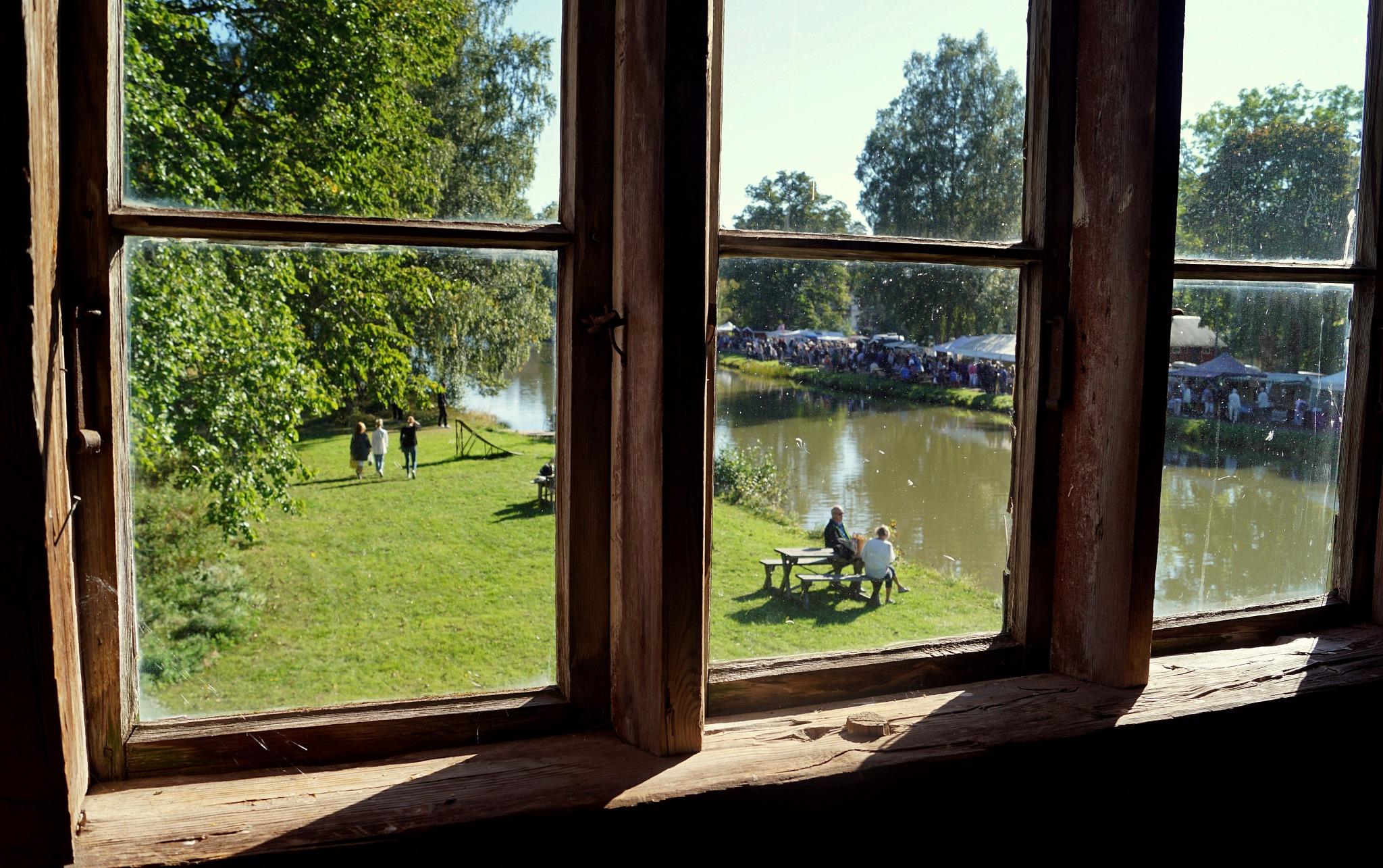 A wiev from an old window by susannemkarlsson