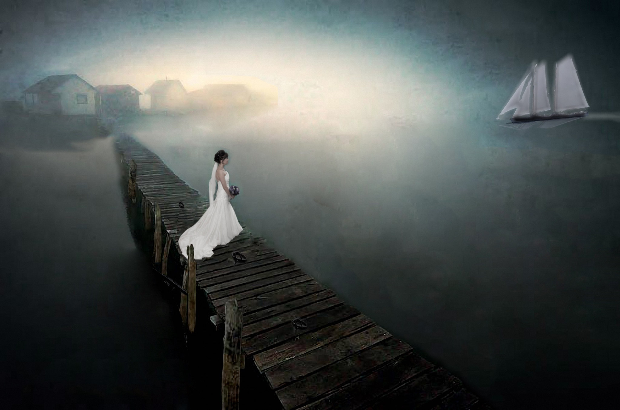 Waiting Bride  by Adrian Dawes Photography