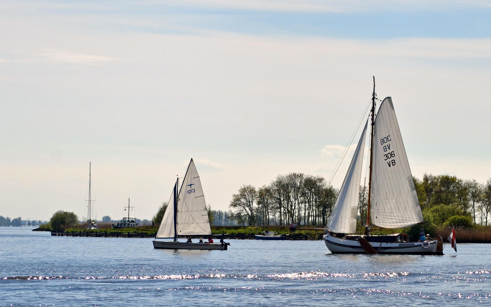 sunny day for sailing by leendert.terpstra