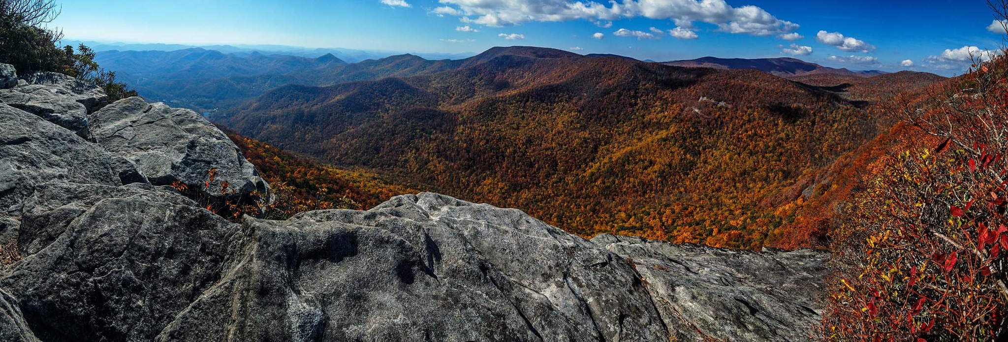 Panorama from Pickens Nose trail, Otto, NC by revpaulvet