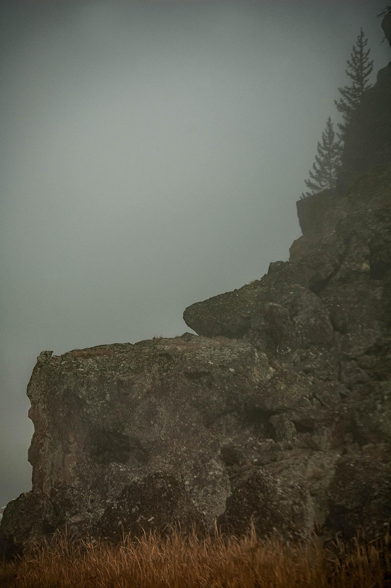 Half Moon Man in the Rock - Madison River - Yellowstone by revpaulvet