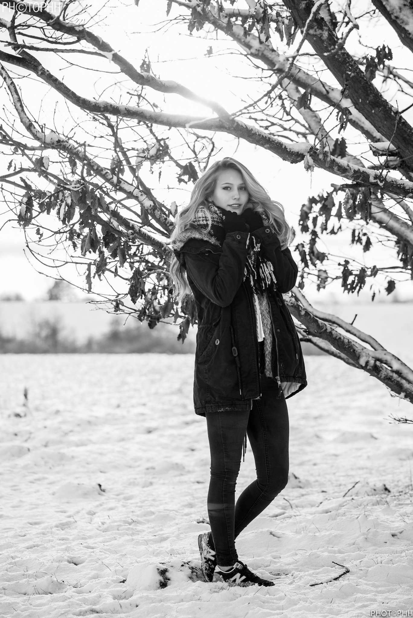 Emilie in the snow  by PHOTOPHH.1