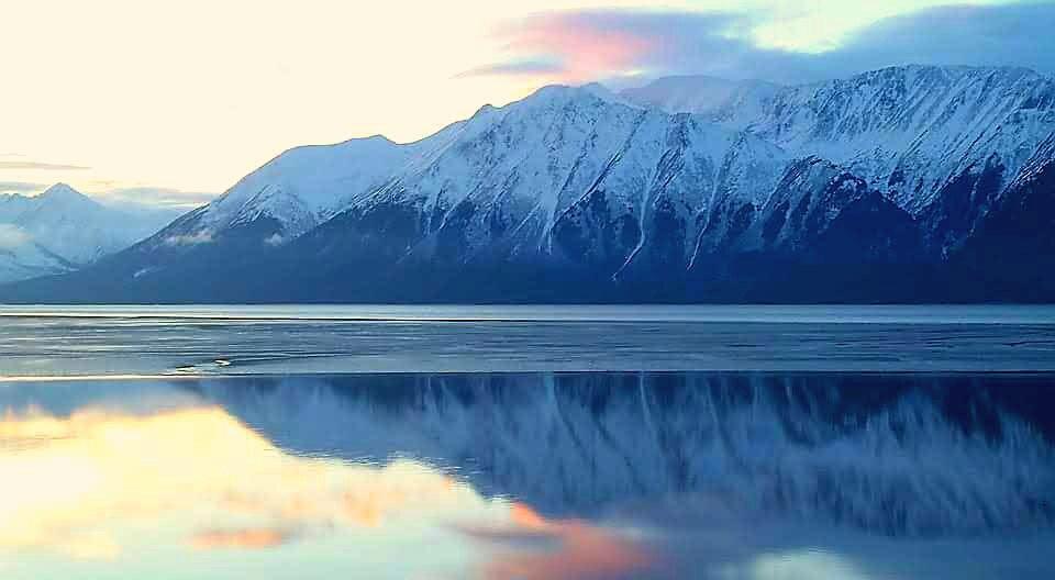 Kenai Mountains Sunrise by teresa.thiele1
