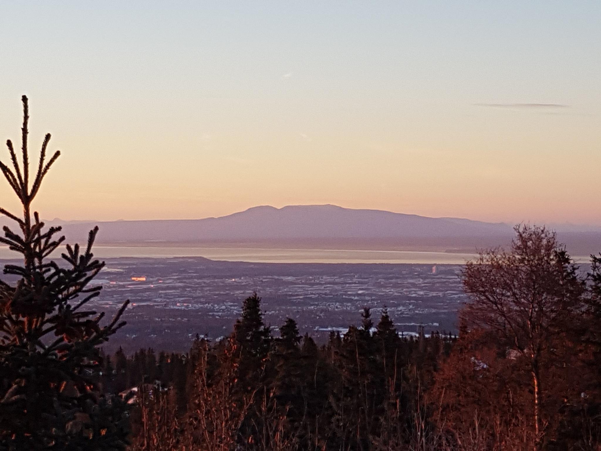 Lavender Mt. Susitna Sunset by teresa.thiele1