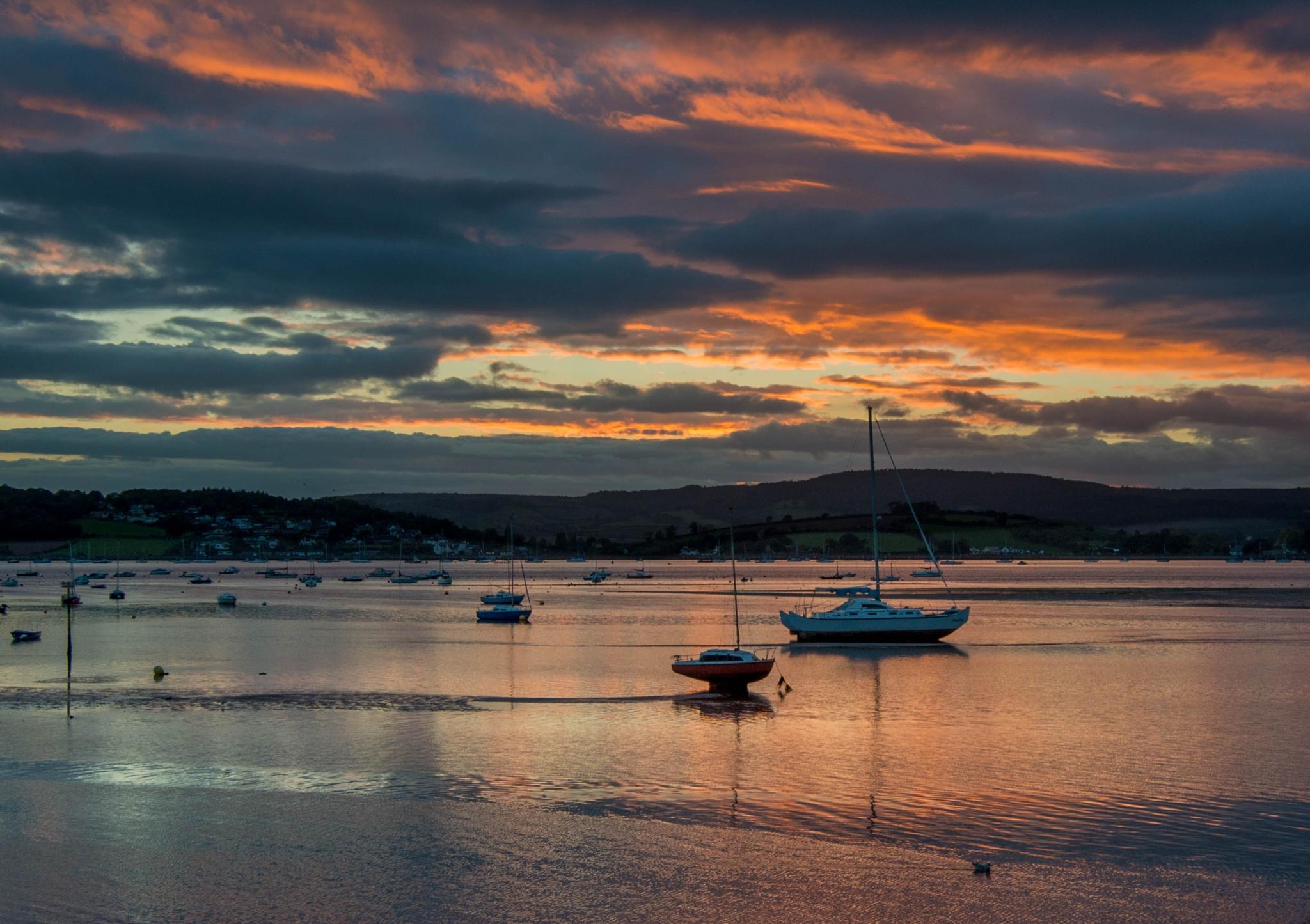 sunset exe estuary by Hammond Photography