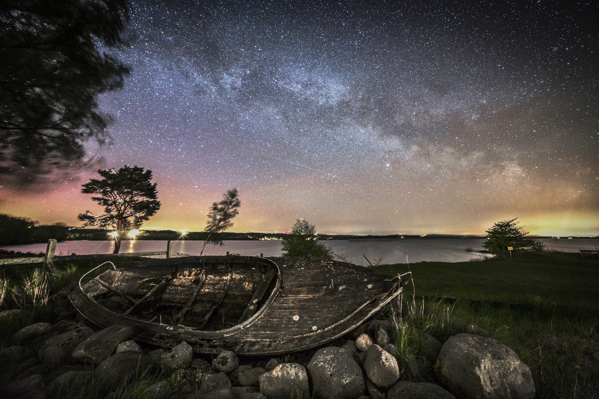 Photo in Random #milkyway #lake #night #stars #aurora borealis