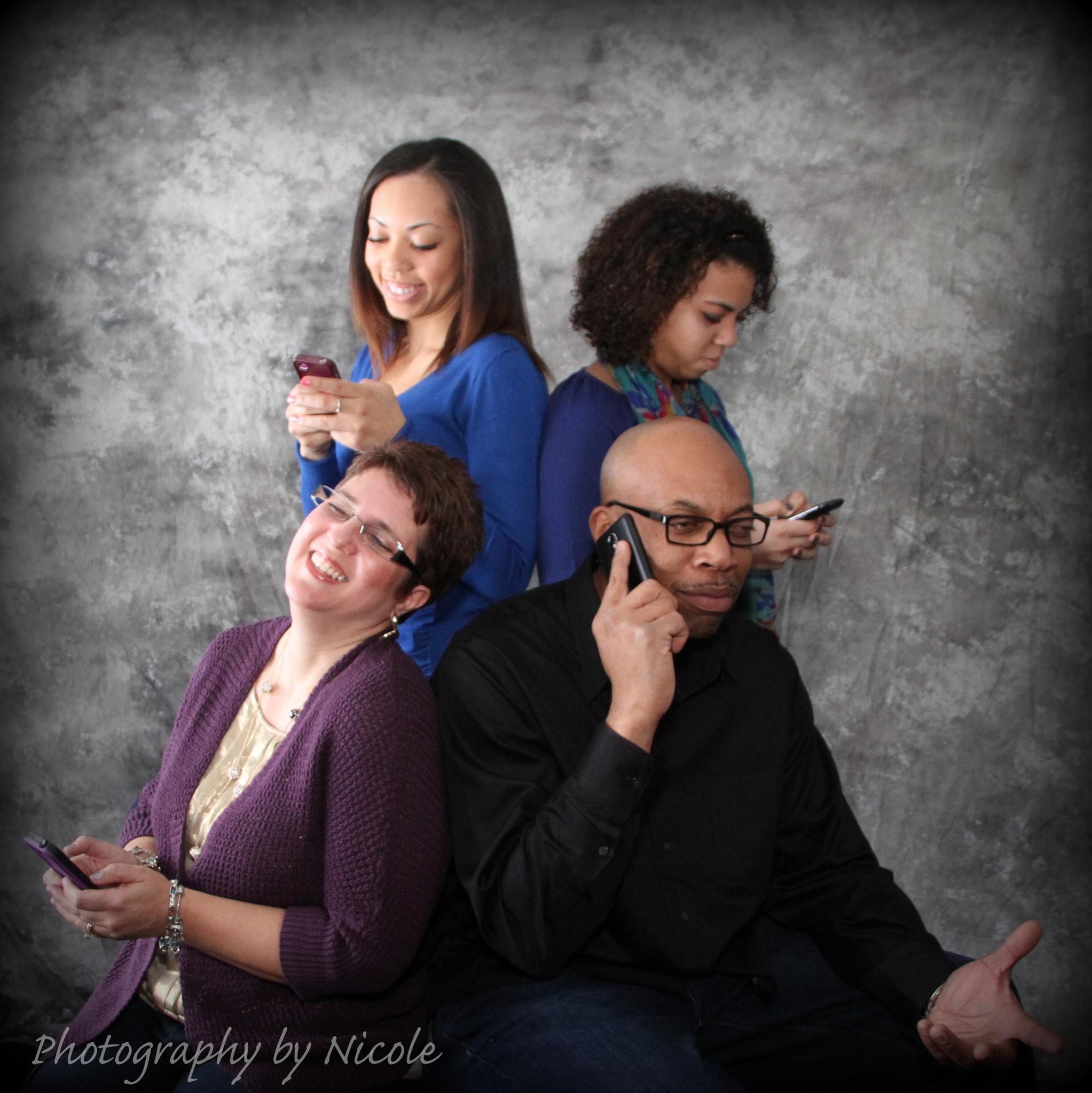 Cell Phone Family by PhotographybyNicole