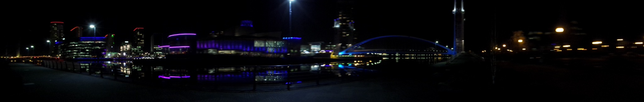 Lowry at Night (Panorama) by brian.f.kirkham