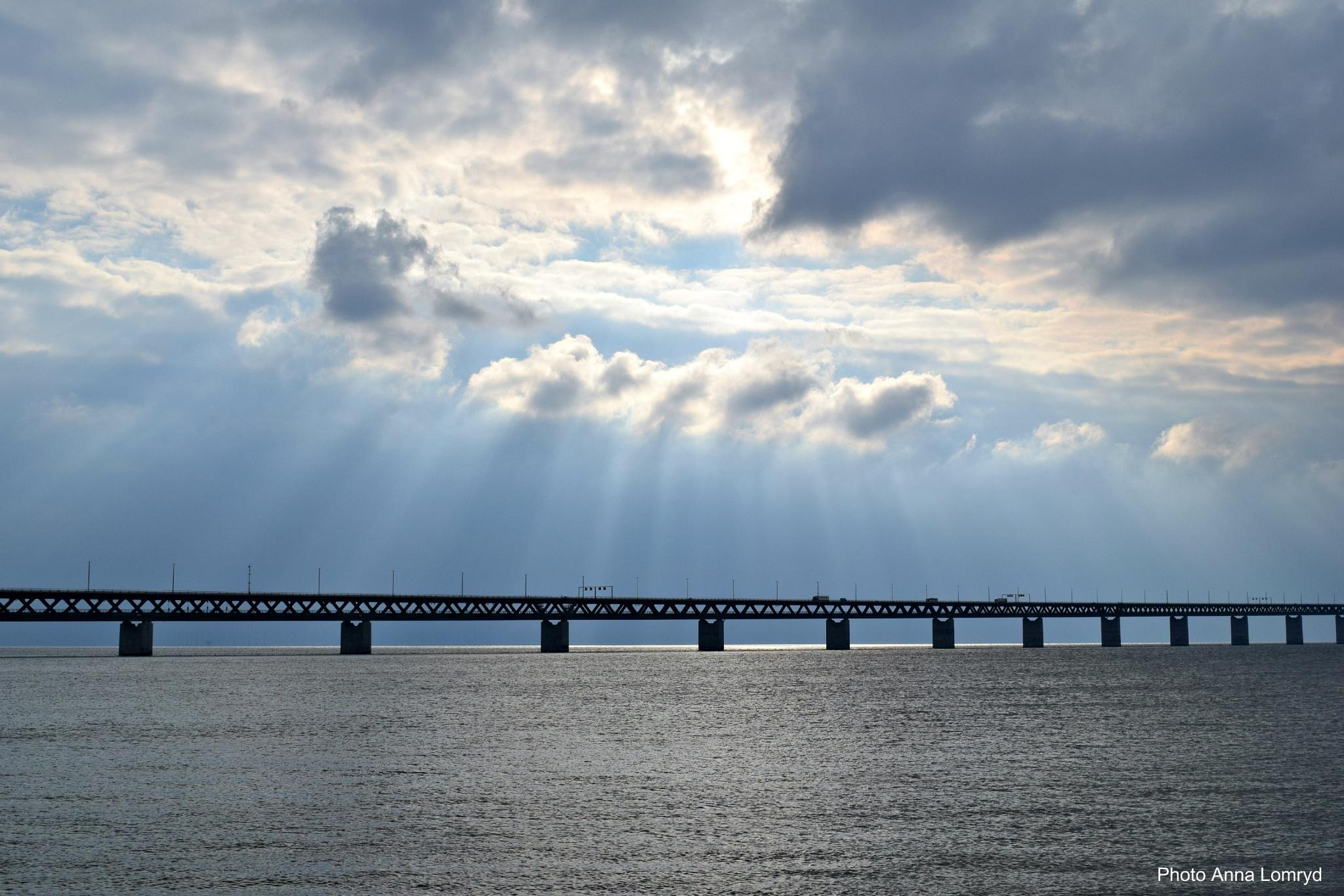 Bridge between Denmark and Sweden by Anna Lomryd