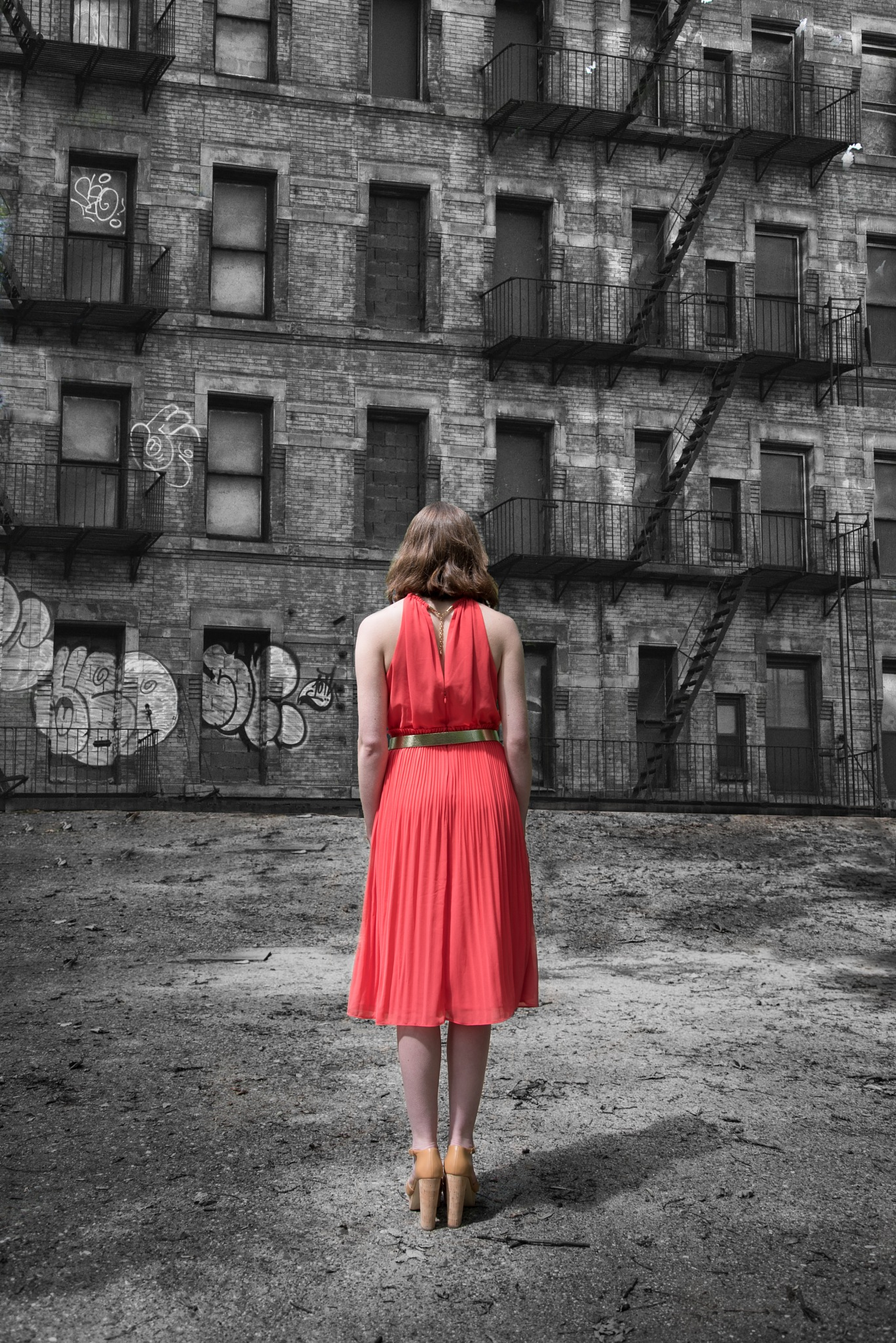 red dress in new york by nilix.bies
