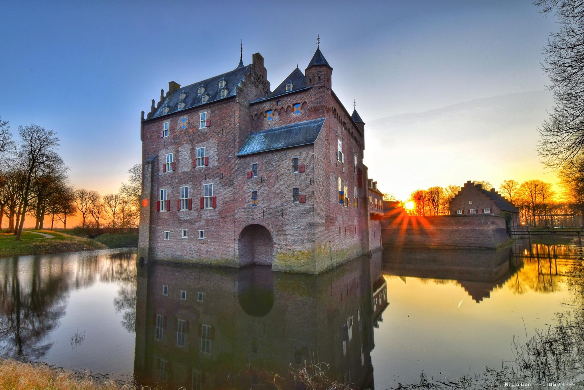 Photo in Landscape #doorwerth #castle #kasteel #rhine #rijn #medieval #sunset #ndnd