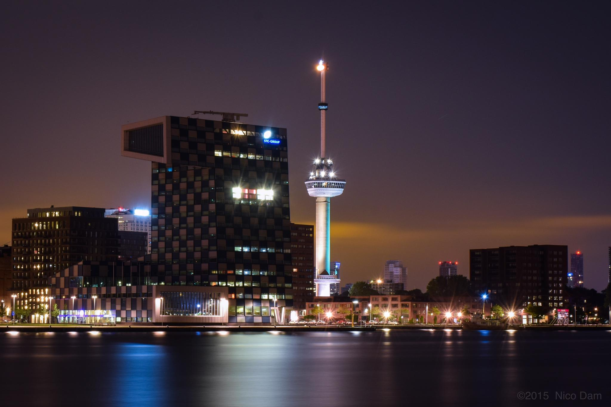 Euromast and STC Building by Nico Dam