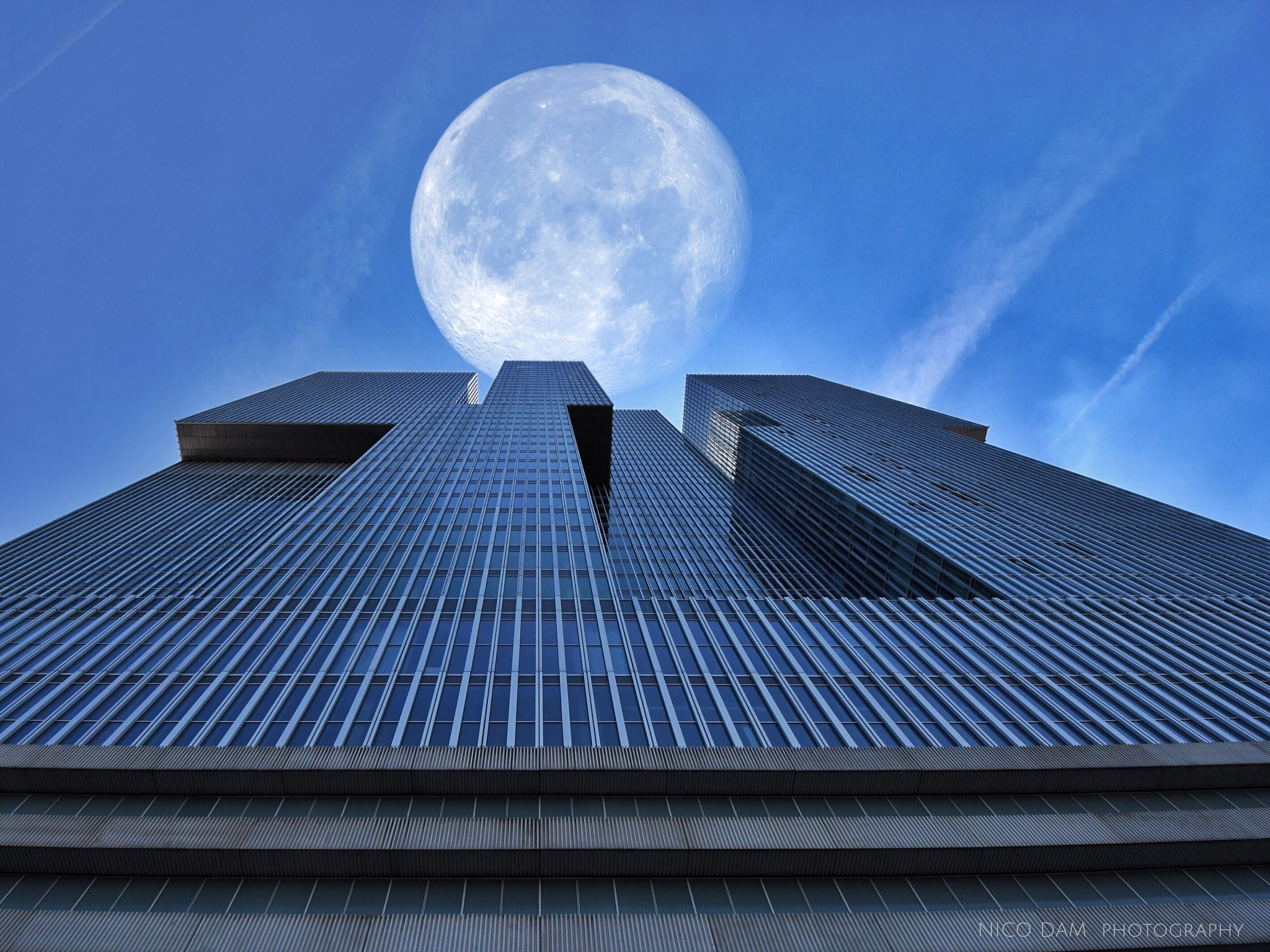 Rotterdam and the Moon by Nico Dam