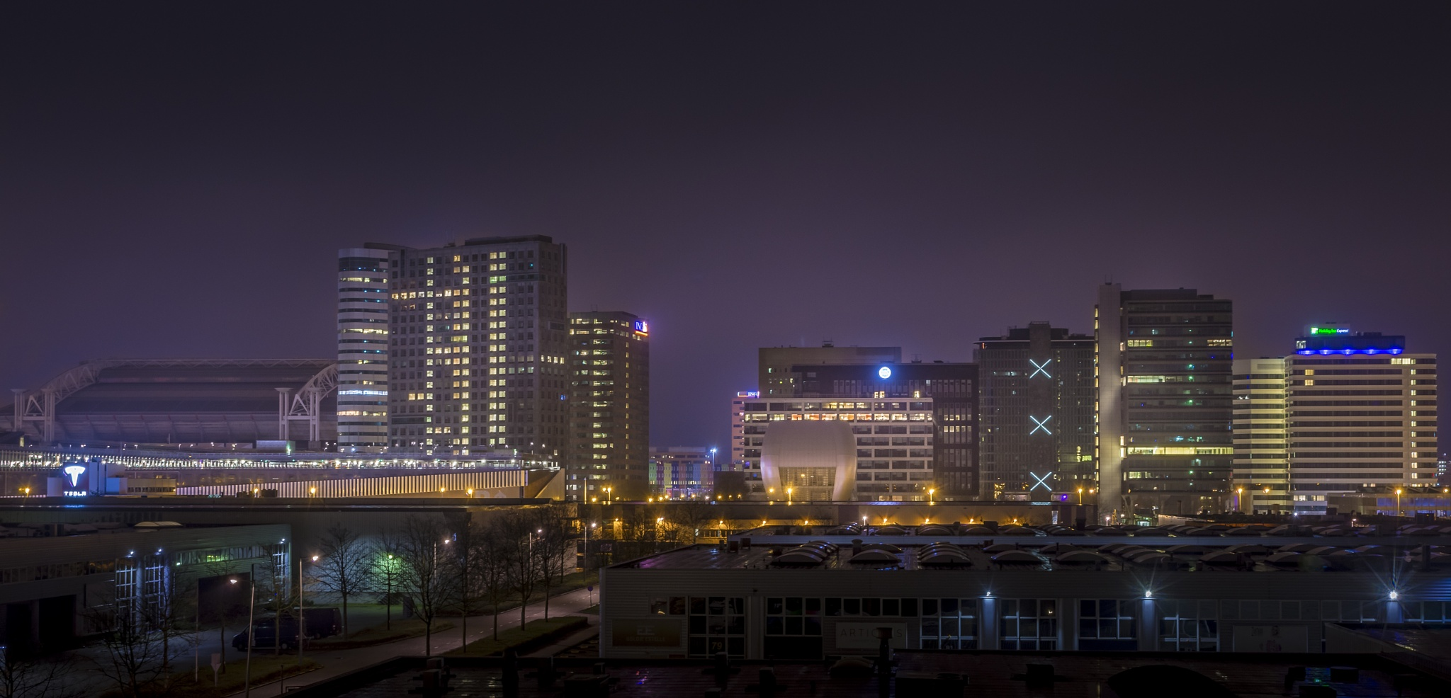 Amsterdam south east by night HDR by Johan Viele