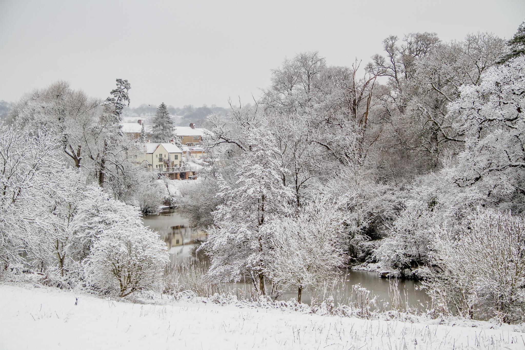 Winter Landscape by Russ Summers