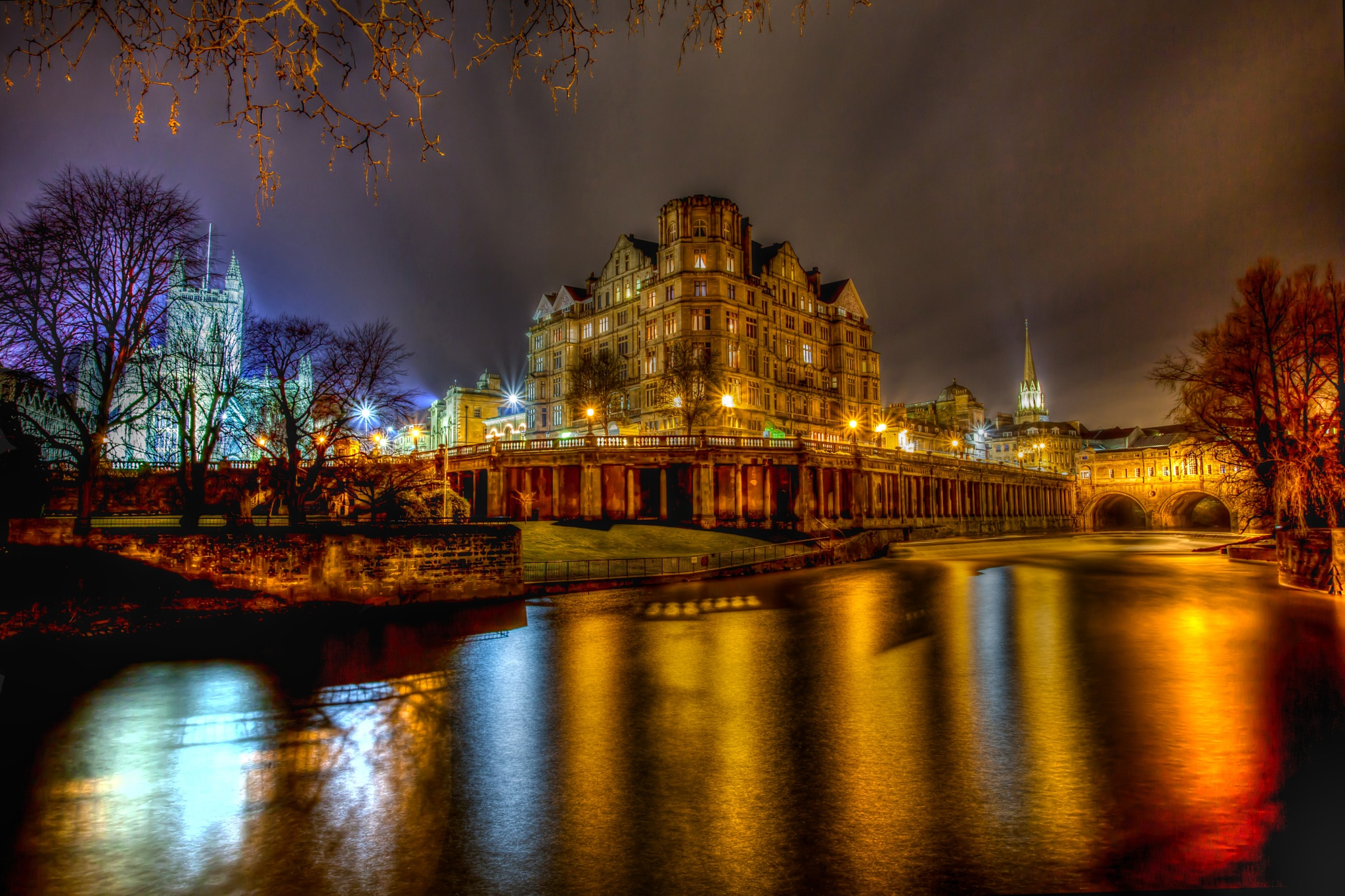 Bath By Night HDR by Russ Summers