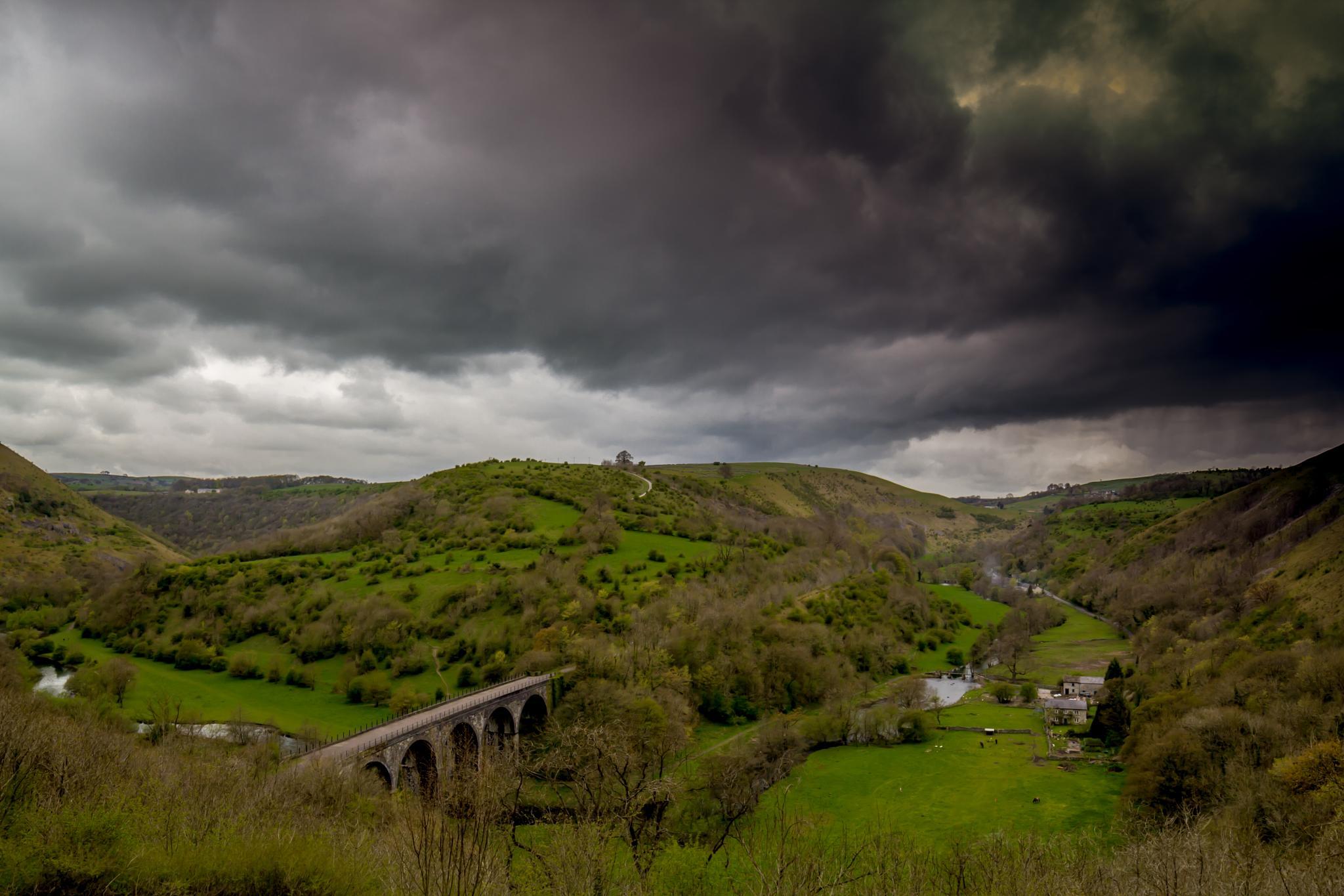 Photo in Landscape #monsal head #storm #clouds