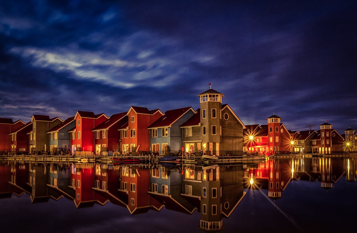 evening falls over reitdiephaven  by ptesta