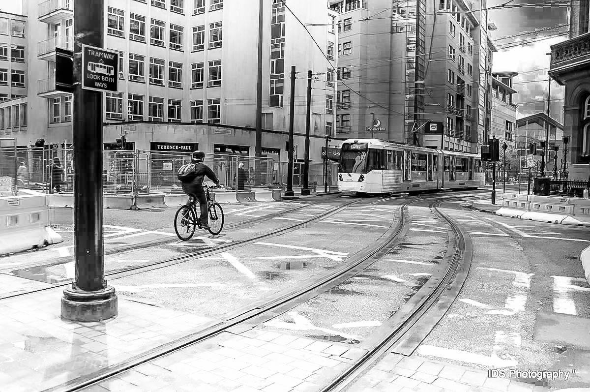 Bike against Tram  by harry.s.burton