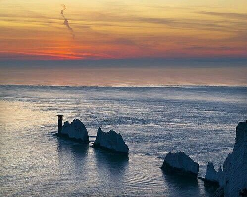 The Needles on the Isle of Wight by Bazza