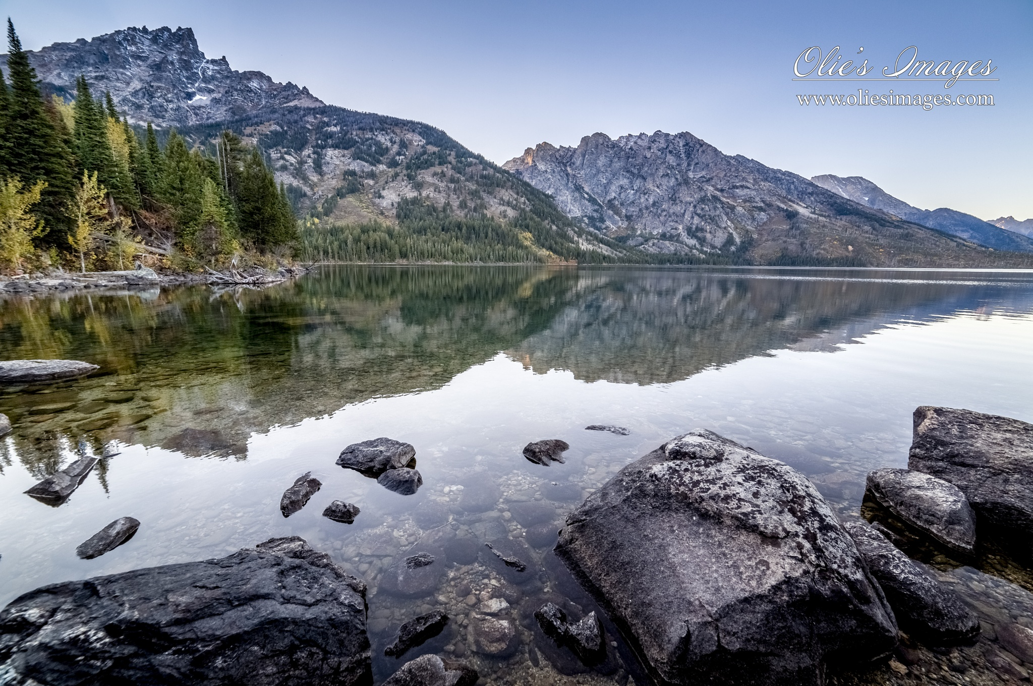 Reflections at Jenny Lake, WY by Olie's Images
