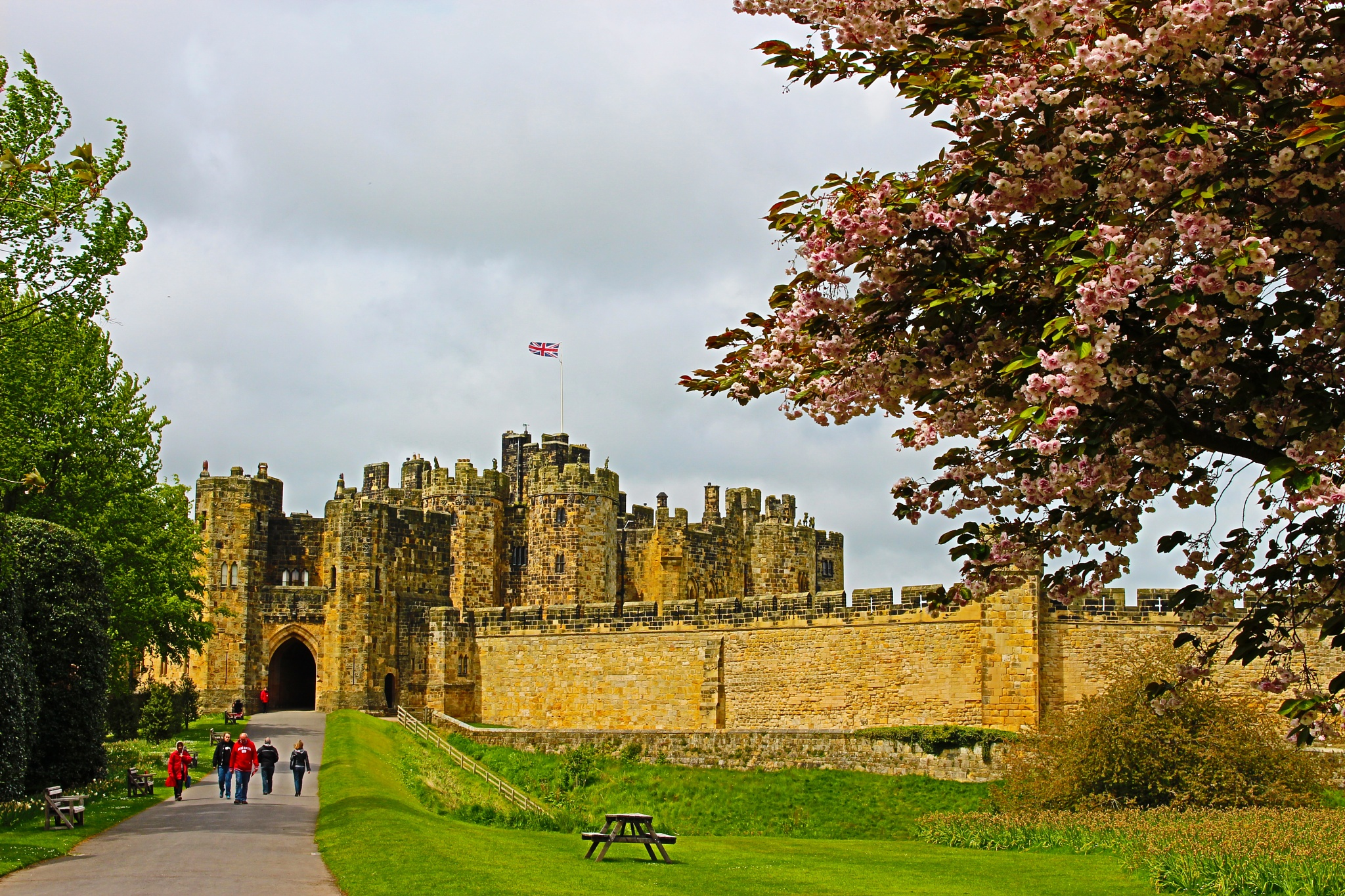 Alnwick Castle Northumberland by Geoffrey Ackers