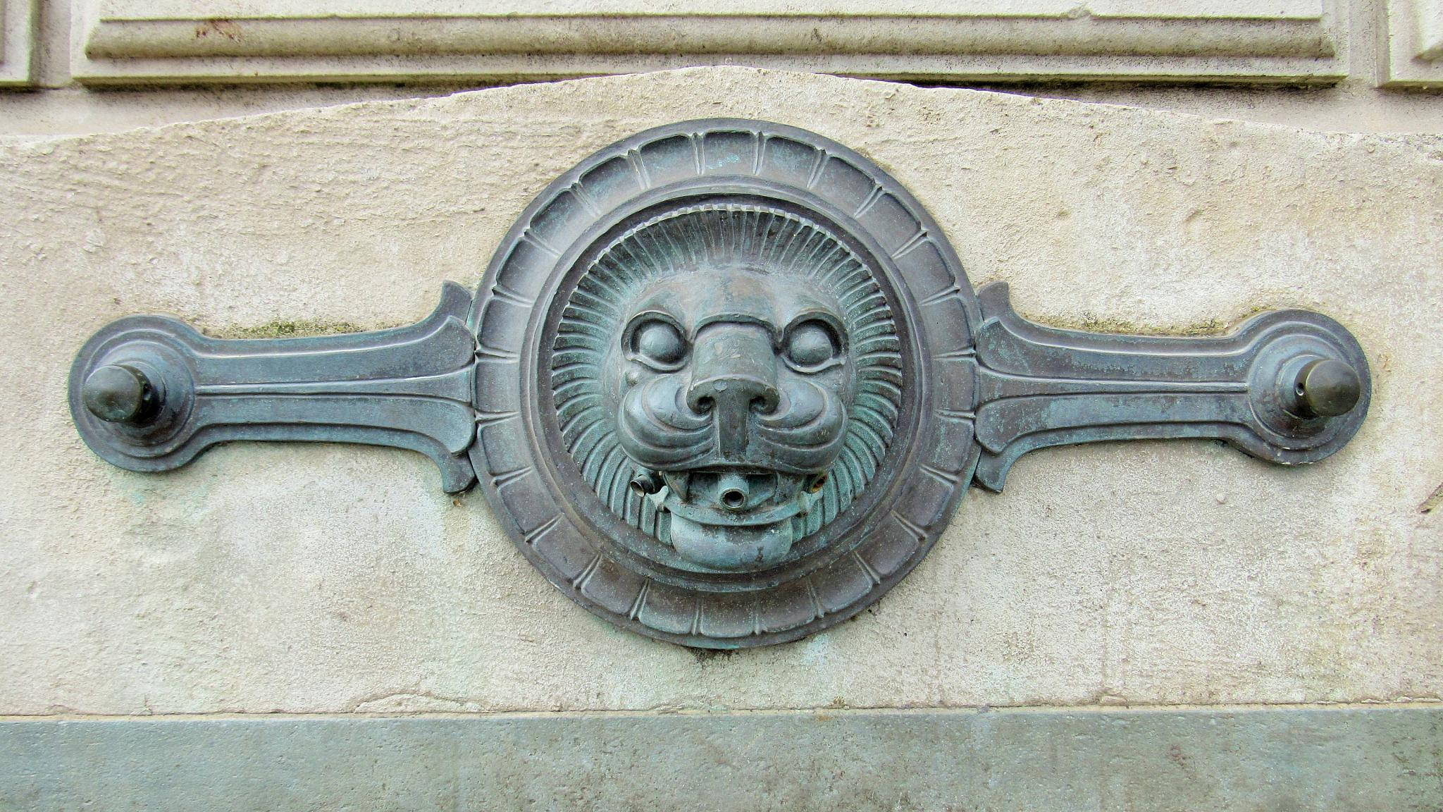 Lion Water Fountain by Geoffrey Ackers