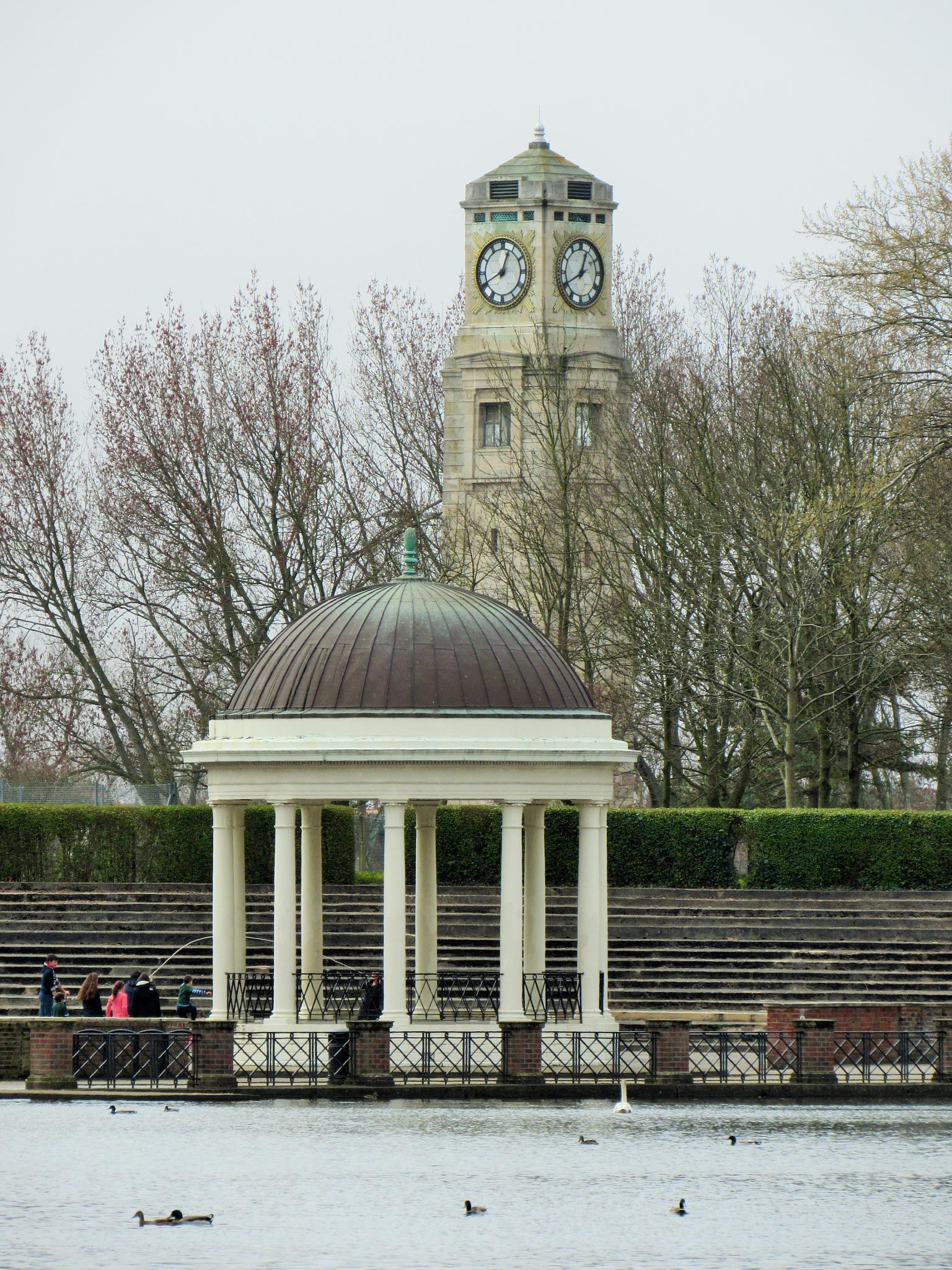 Band Stand & Clock Tower by Geoffrey Ackers