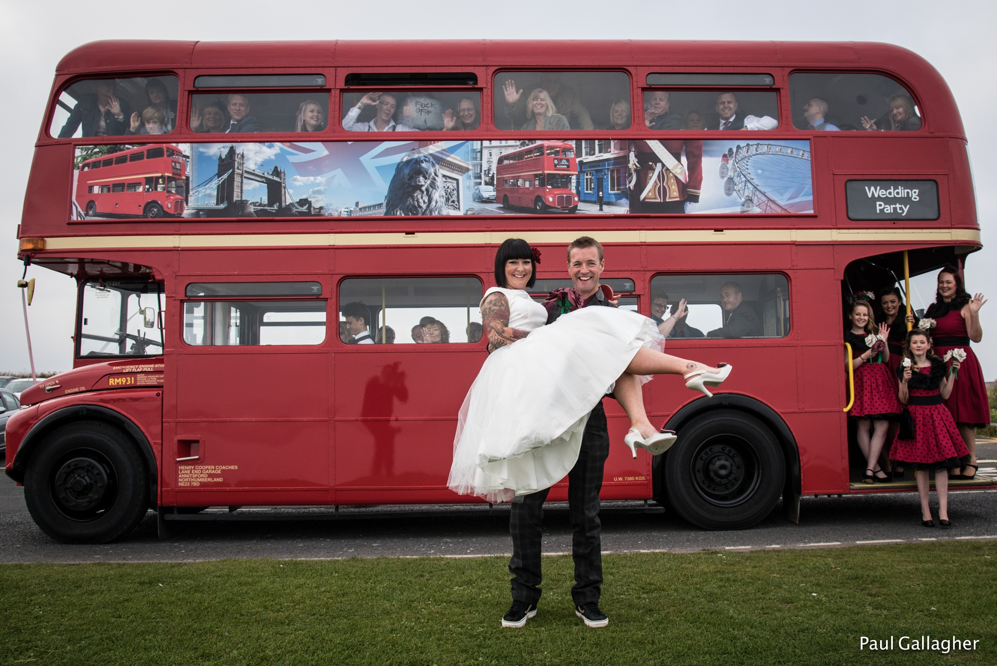 The Wedding Bus by Glam Portraits by Paul Gallagher