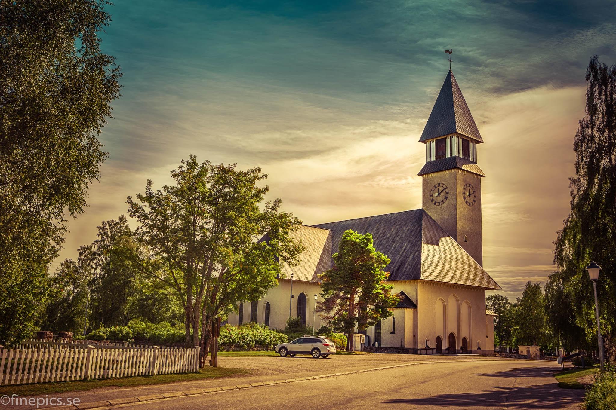 Burträsk church by Johan Bergenstråhle