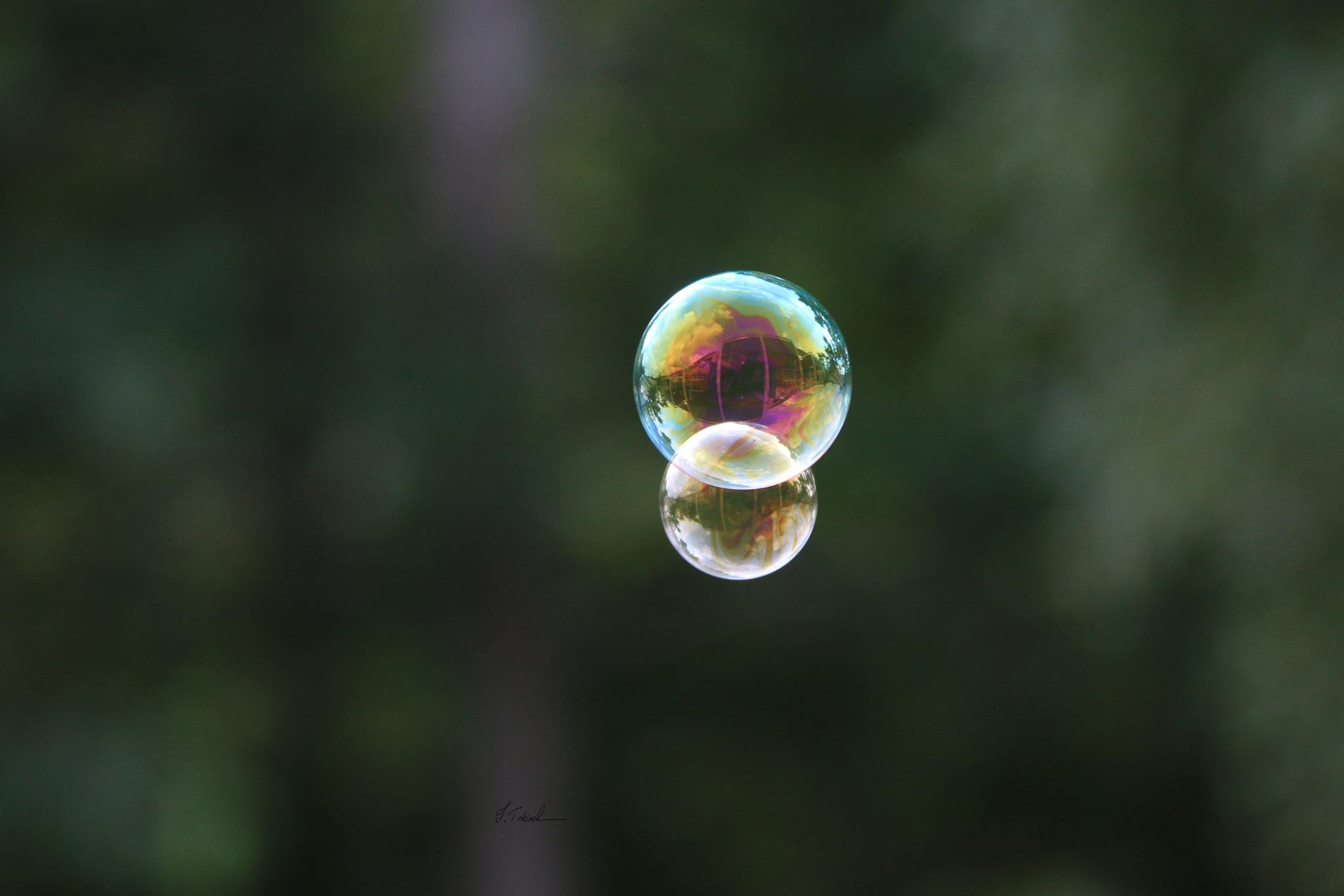 Flying bubbles by Ingemar Tobiasson