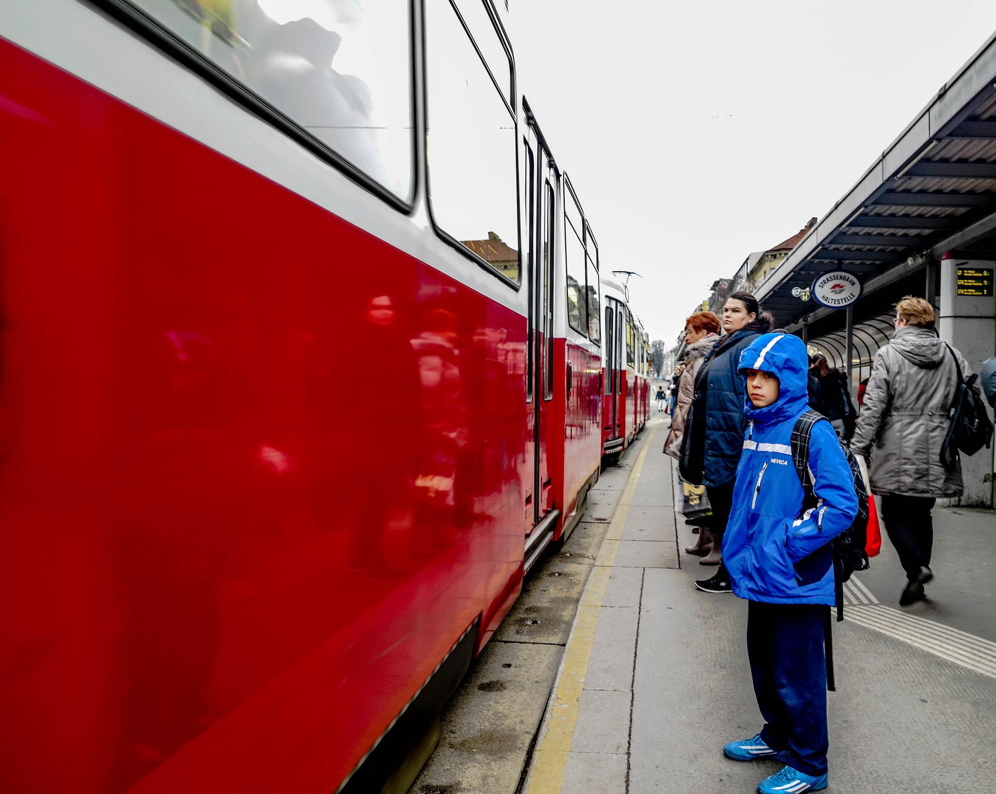 Tram station by Filip