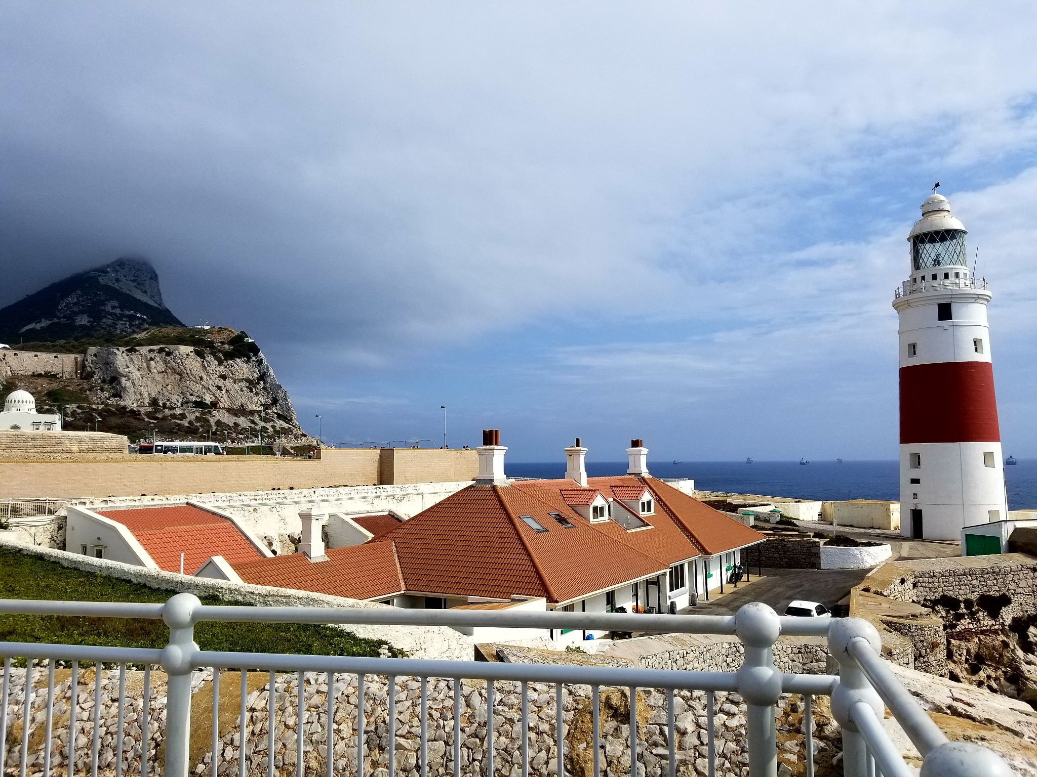 Rock of Gibraltar from lighthouse. by lorin.glenn