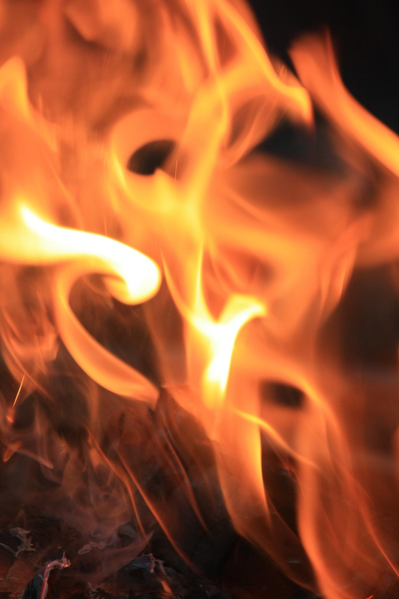 Dancing face in fire by Sophia von Wrangell
