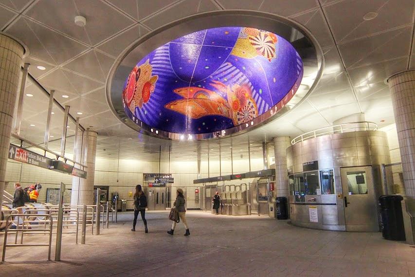Photo in Architecture #station #plataform #subway #nyc #manhattan