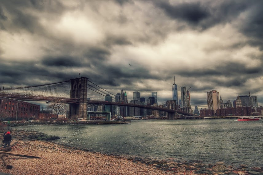 East River by Benedito Luiz Arruda