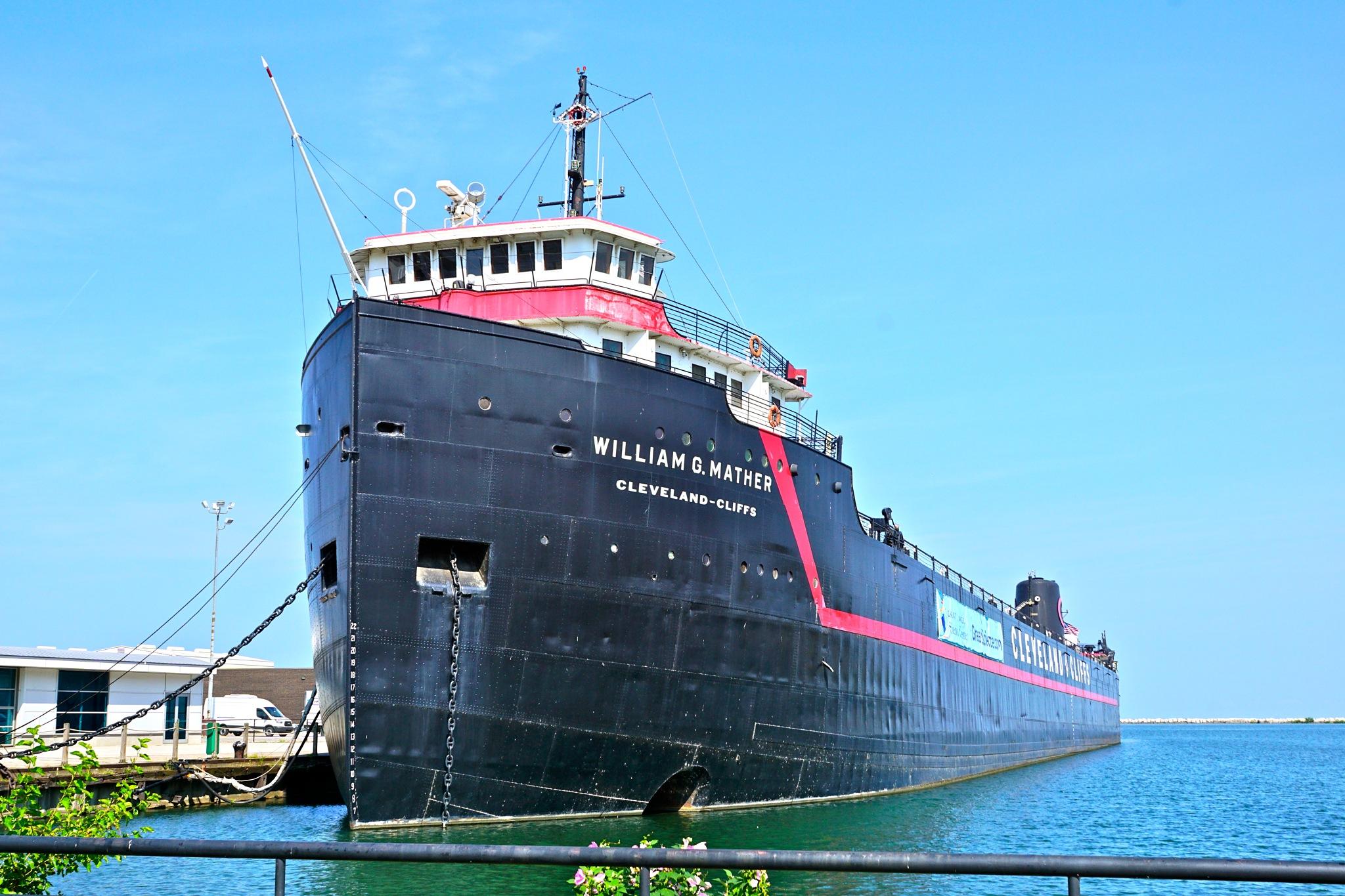 steamship William G Mather by Debi Staron