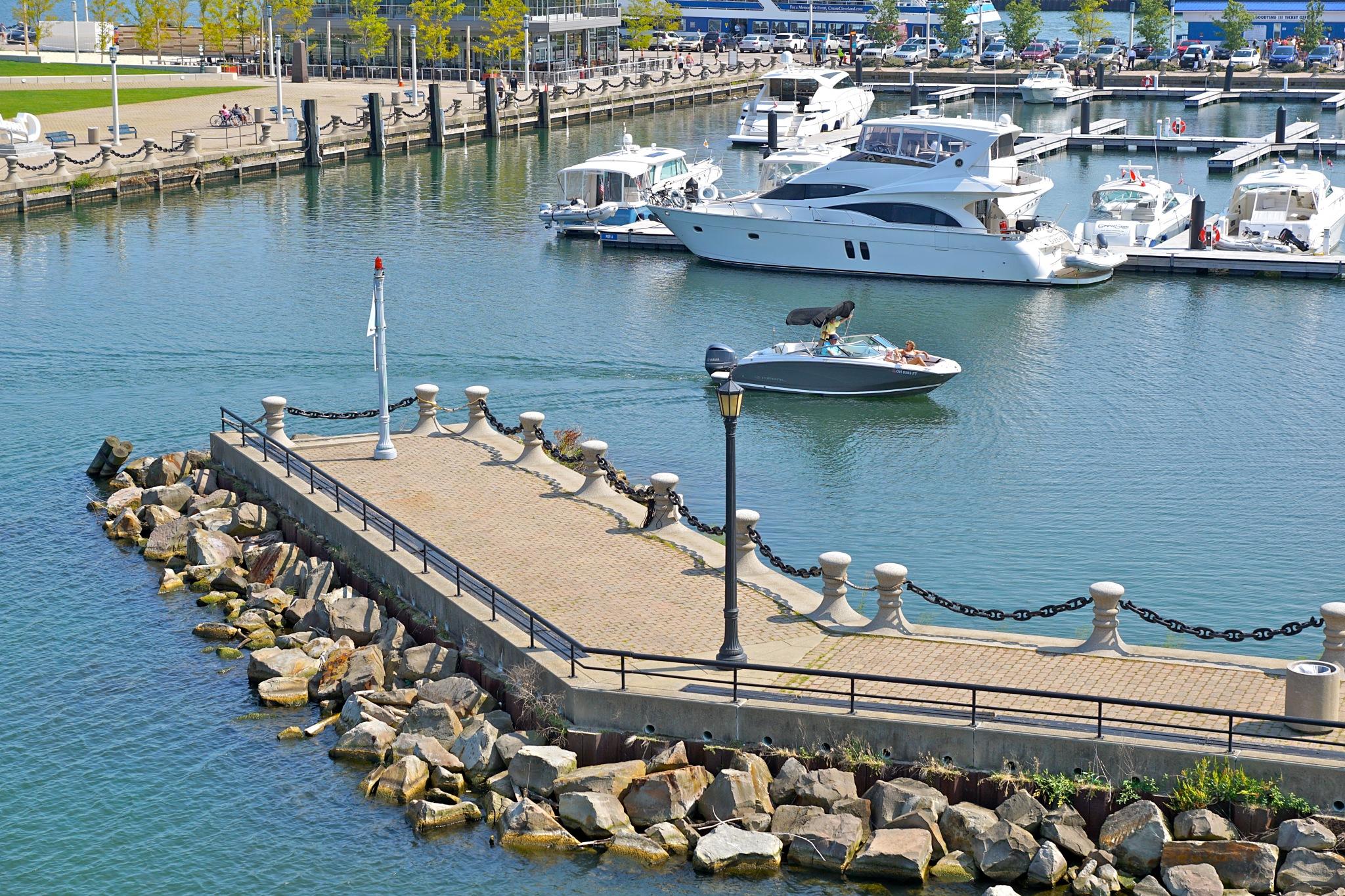 entering the harbor by Debi Staron
