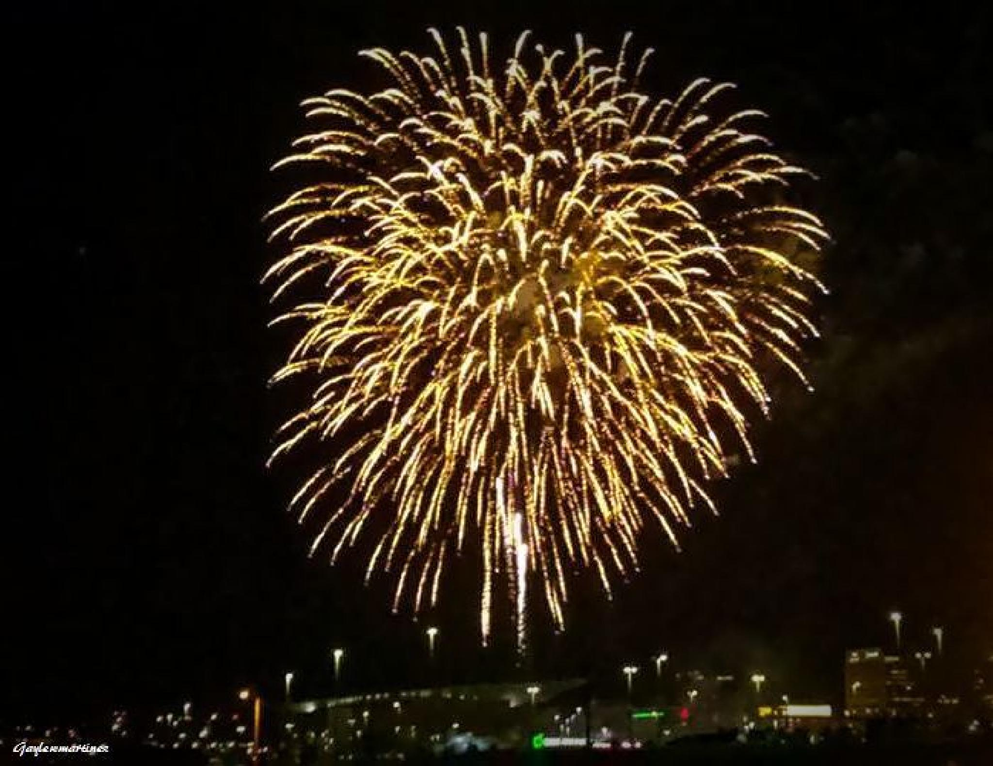Fireworks over the City by gayle.wolfemartinez