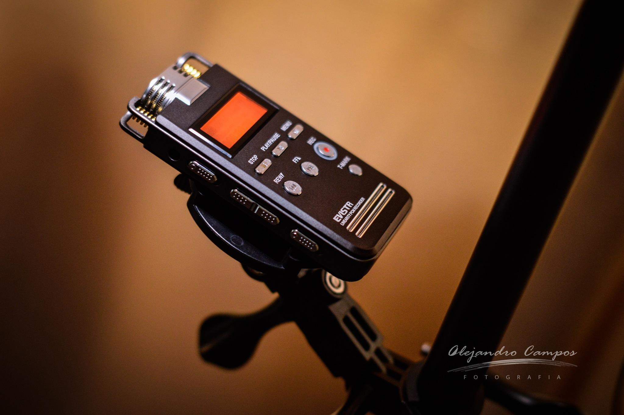 Evistr L53 sound recorder + EKEN accessories by alejandrocamposfotografia