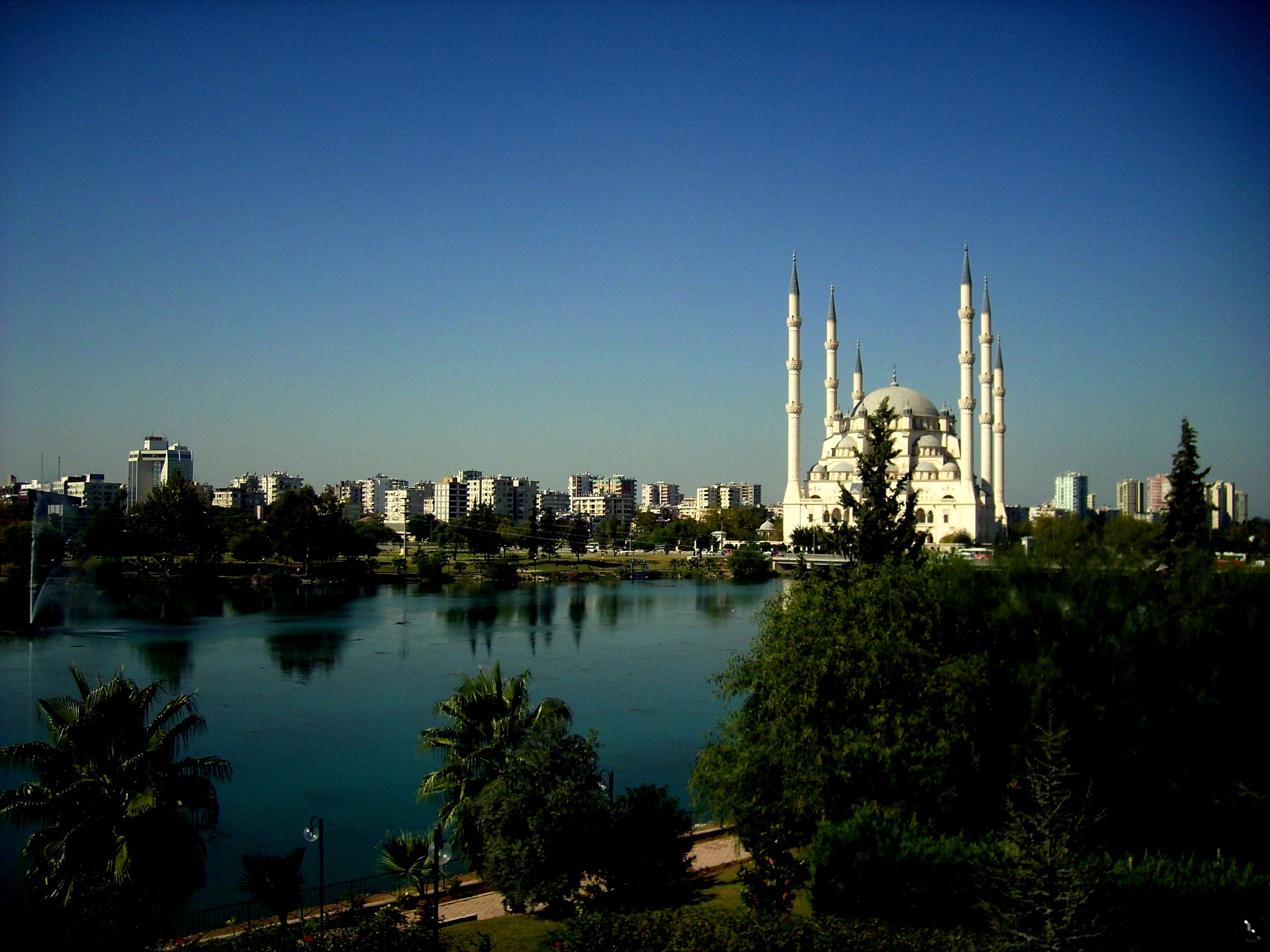 Seyhan River and Sabanci Central Mosque... by Bedirhan Küpeli