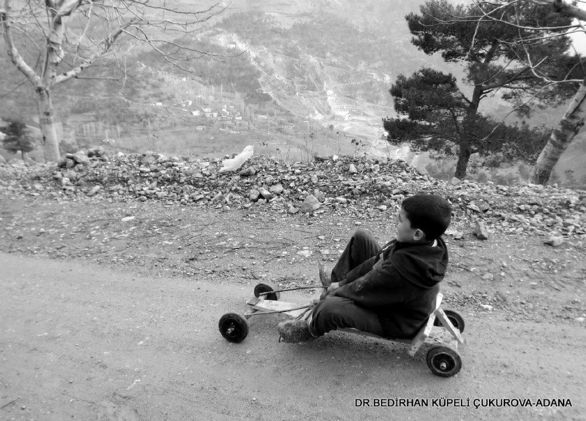 Photo in Black and White #toy #play #people #black #white #wooden #car #child #maraş #kahramanmaraş #turkey #türkiye #türk #road #street #rural #village