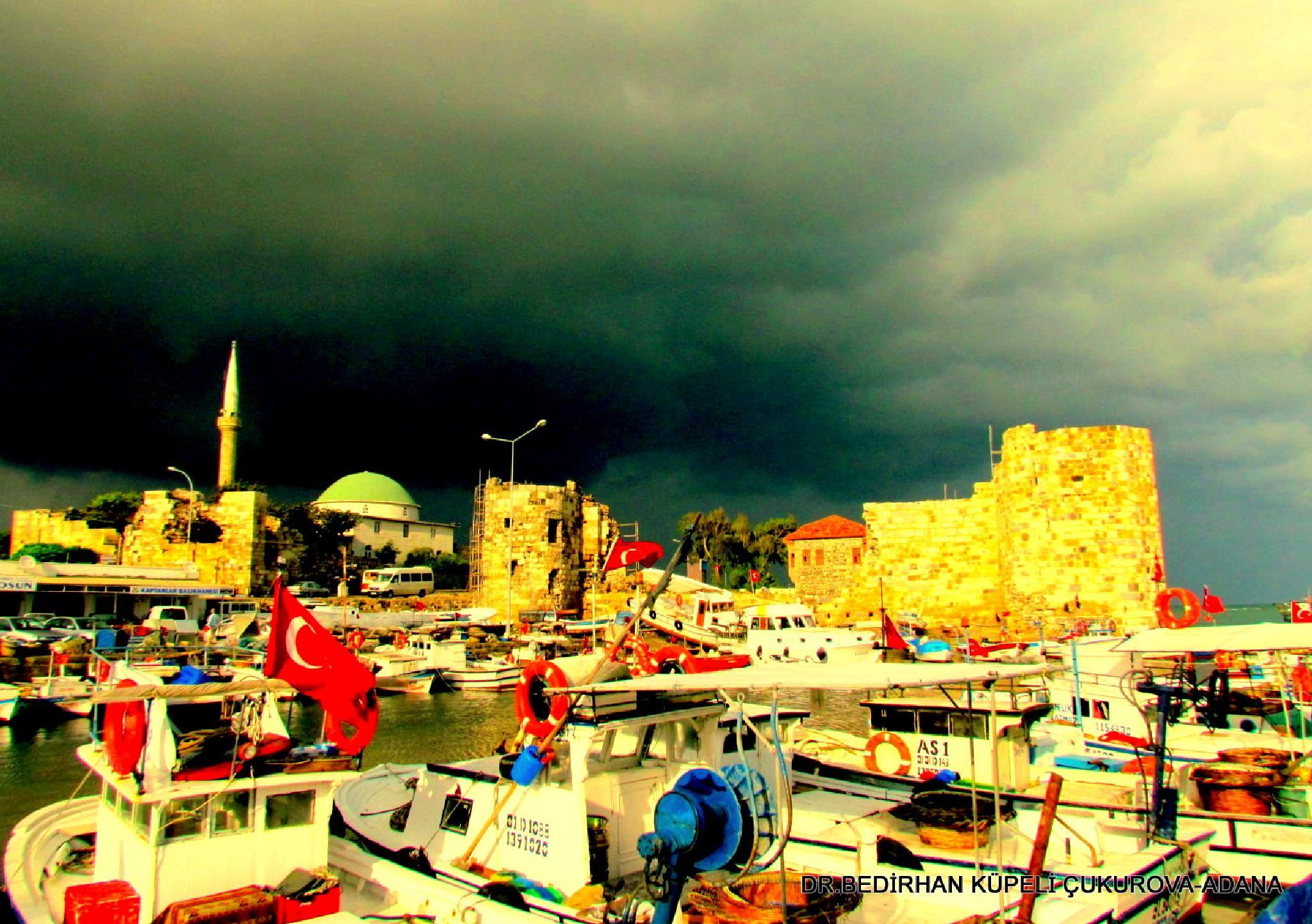 Photo in Landscape #harbour #port #landscape #yumurtalık #liman #castle #boat #ship #fishing boat #turkey #türkiye #türk #fish #mosque #sea #red #blue #adana